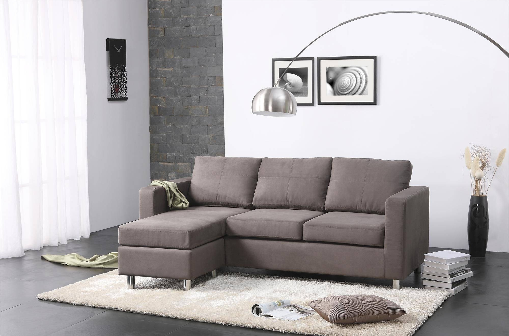 Furniture: Awesome Living Room Design With Contemporary Sectional throughout Modern Sectional Sofas for Small Spaces (Image 8 of 25)