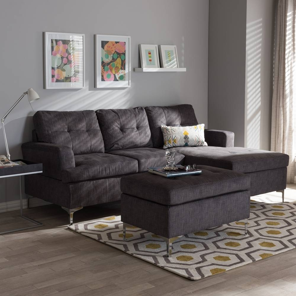 Furniture: Baxton Studio Sectional | Braxton Sectional Sofa throughout Dobson Sectional Sofa (Image 10 of 30)