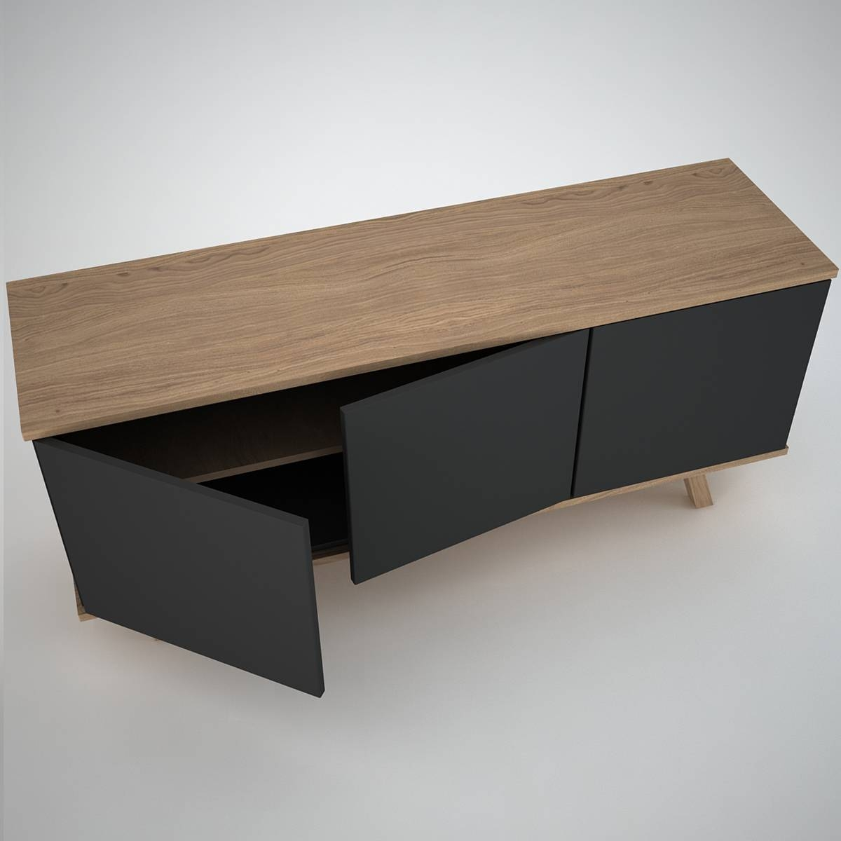 Furniture: Beautiful Profile Modern Sideboard For Living Room for Contemporary Wood Sideboards (Image 17 of 30)