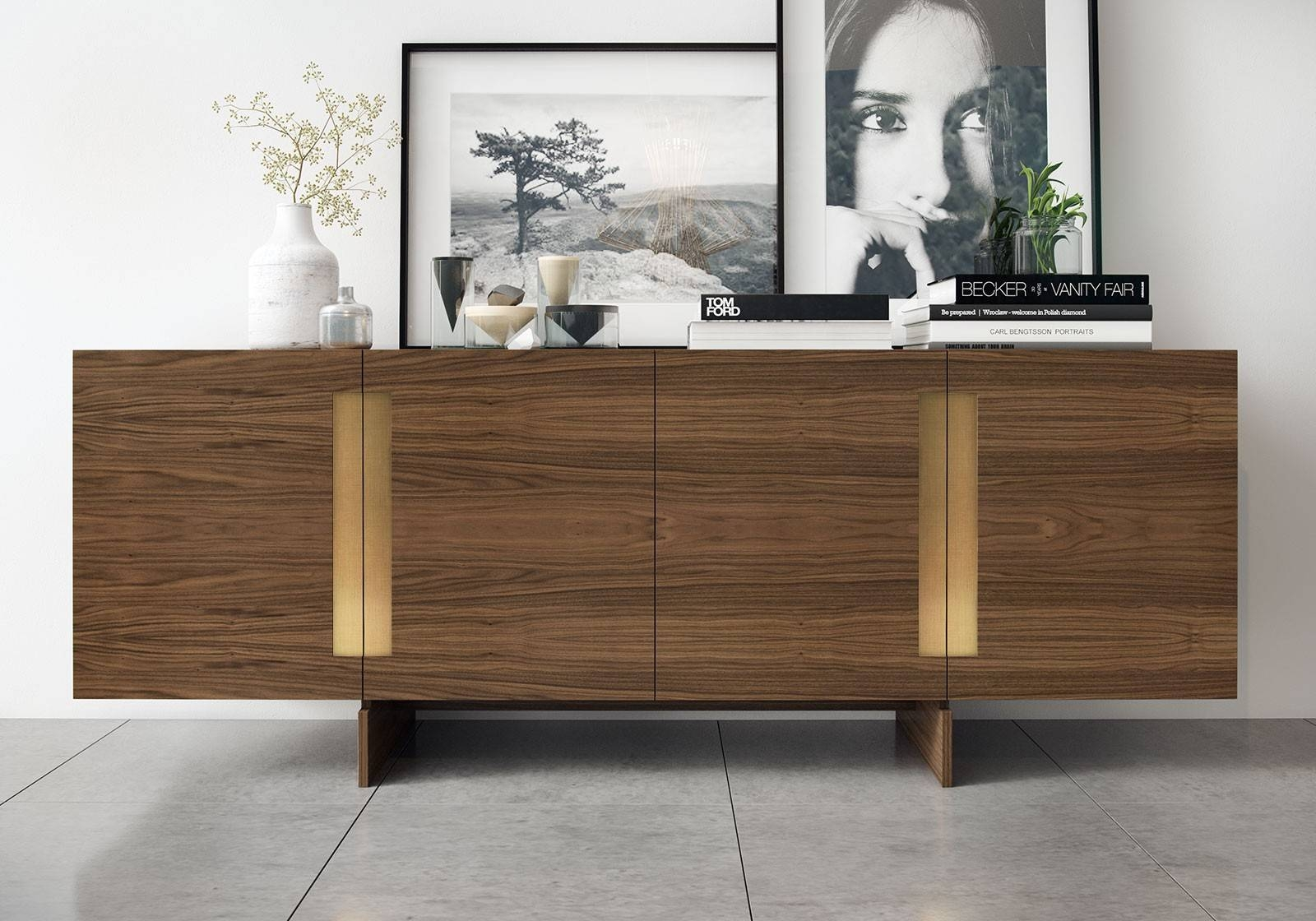 Furniture: Beautiful Profile Modern Sideboard For Living Room in Contemporary Sideboard Cabinets (Image 14 of 30)