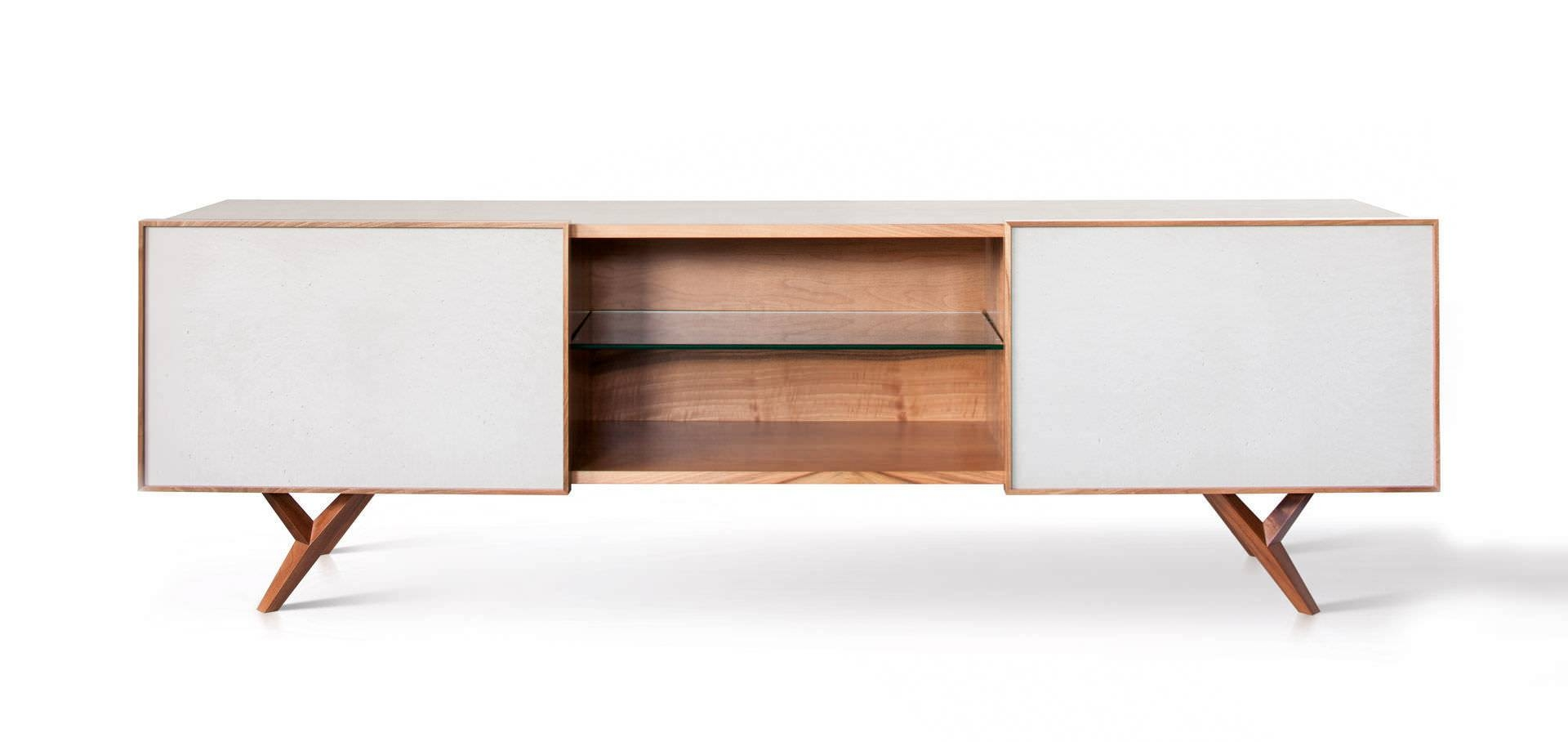 Furniture: Beautiful Profile Modern Sideboard For Living Room intended for White Modern Sideboards (Image 7 of 30)