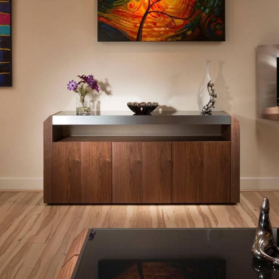 Furniture: Beautiful Profile Modern Sideboard For Living Room regarding Black Gloss Buffet Sideboards (Image 12 of 30)