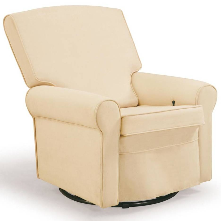 Furniture: Beautiful Upholstered Rocking Chair For Home Furniture within Rocking Sofa Chairs (Image 6 of 30)