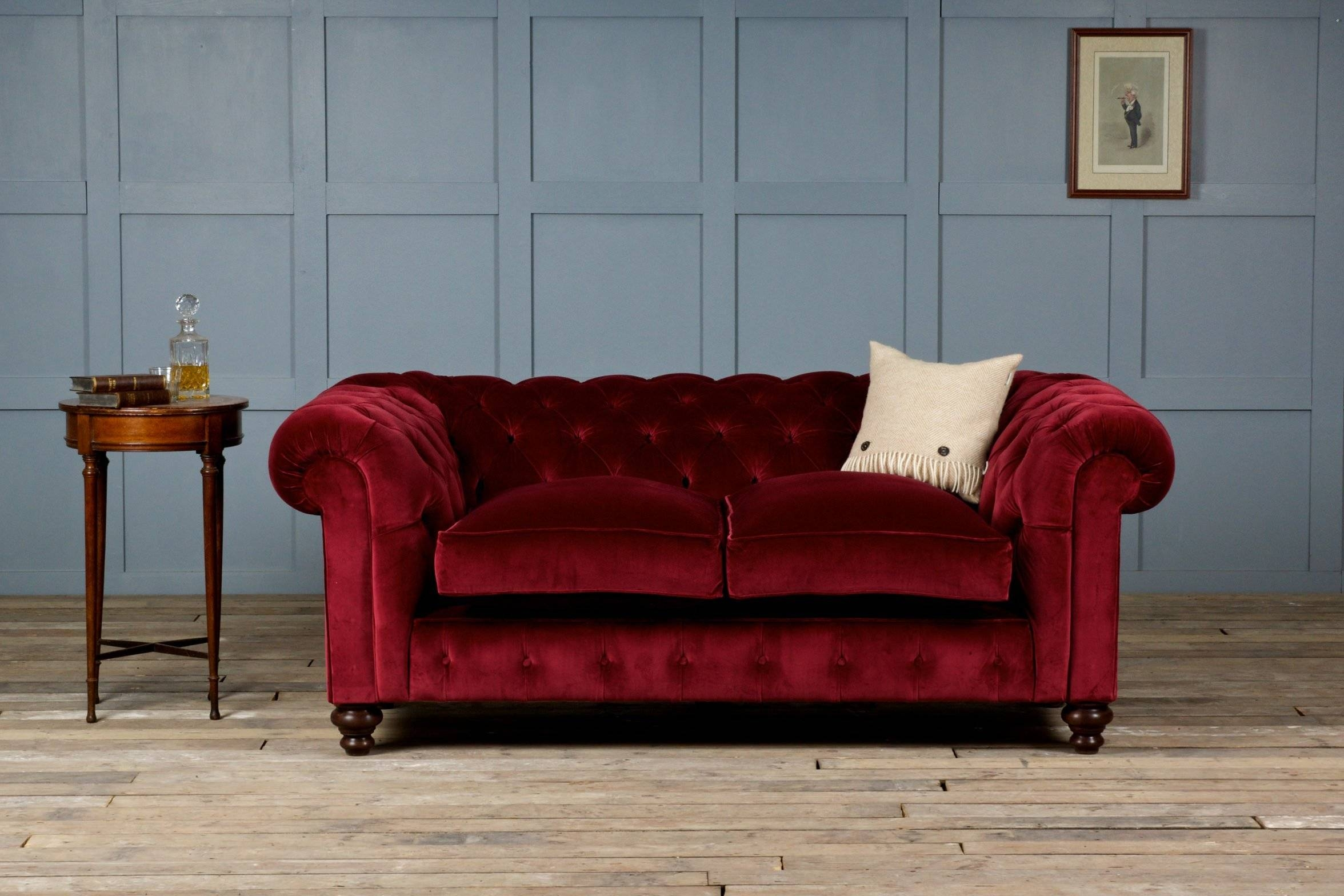 Furniture: Beautiful Velvet Couch For Living Room Furniture Ideas with regard to Velvet Sofas Sectionals (Image 7 of 25)