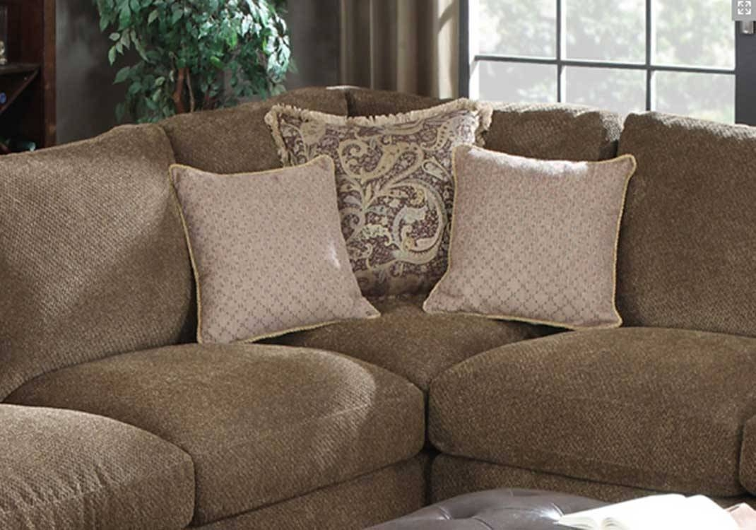 Furniture: Beige And Gray Havertys Furniture Sectionals For with regard to Chenille Sectional Sofas (Image 11 of 30)