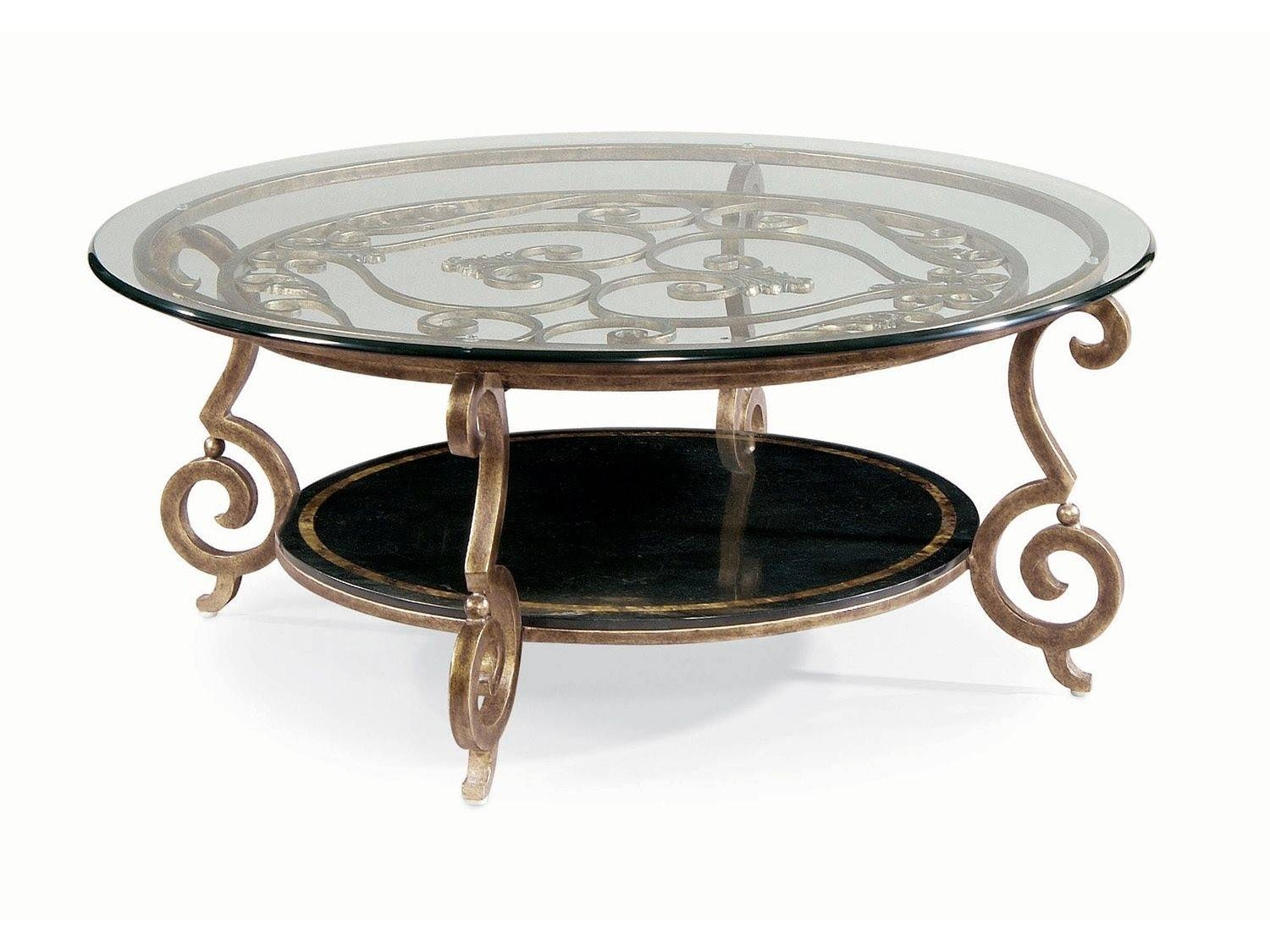 Furniture. Bernhardt Coffee Table Design Ideas: Bronze Round in Bronze Coffee Table Glass Top (Image 14 of 30)