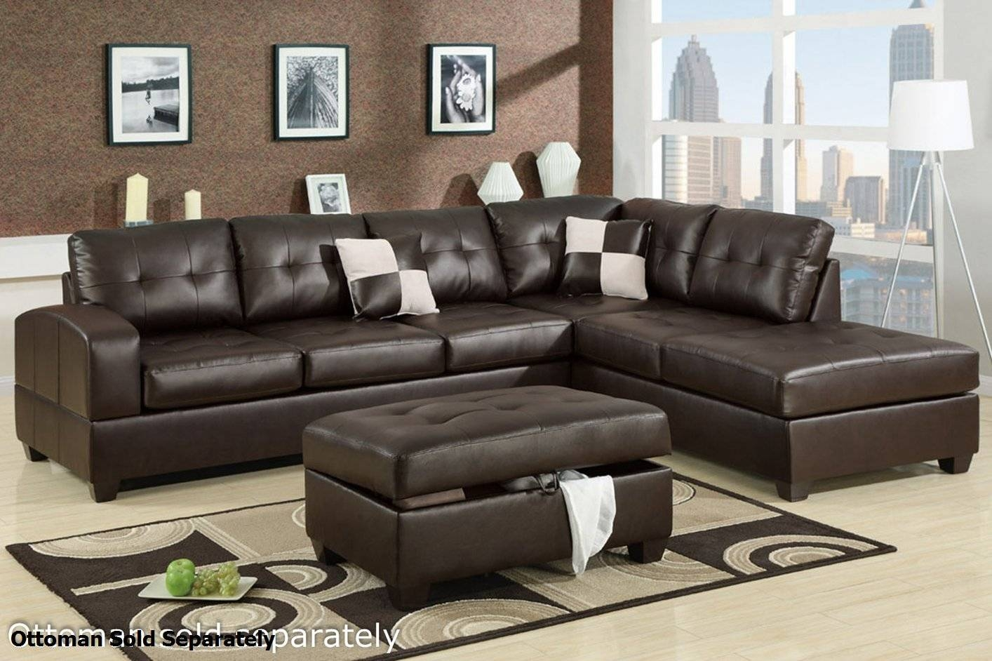 Furniture: Best Design Of Brown Leather Sectional For Modern for Leather Modular Sectional Sofas (Image 6 of 30)