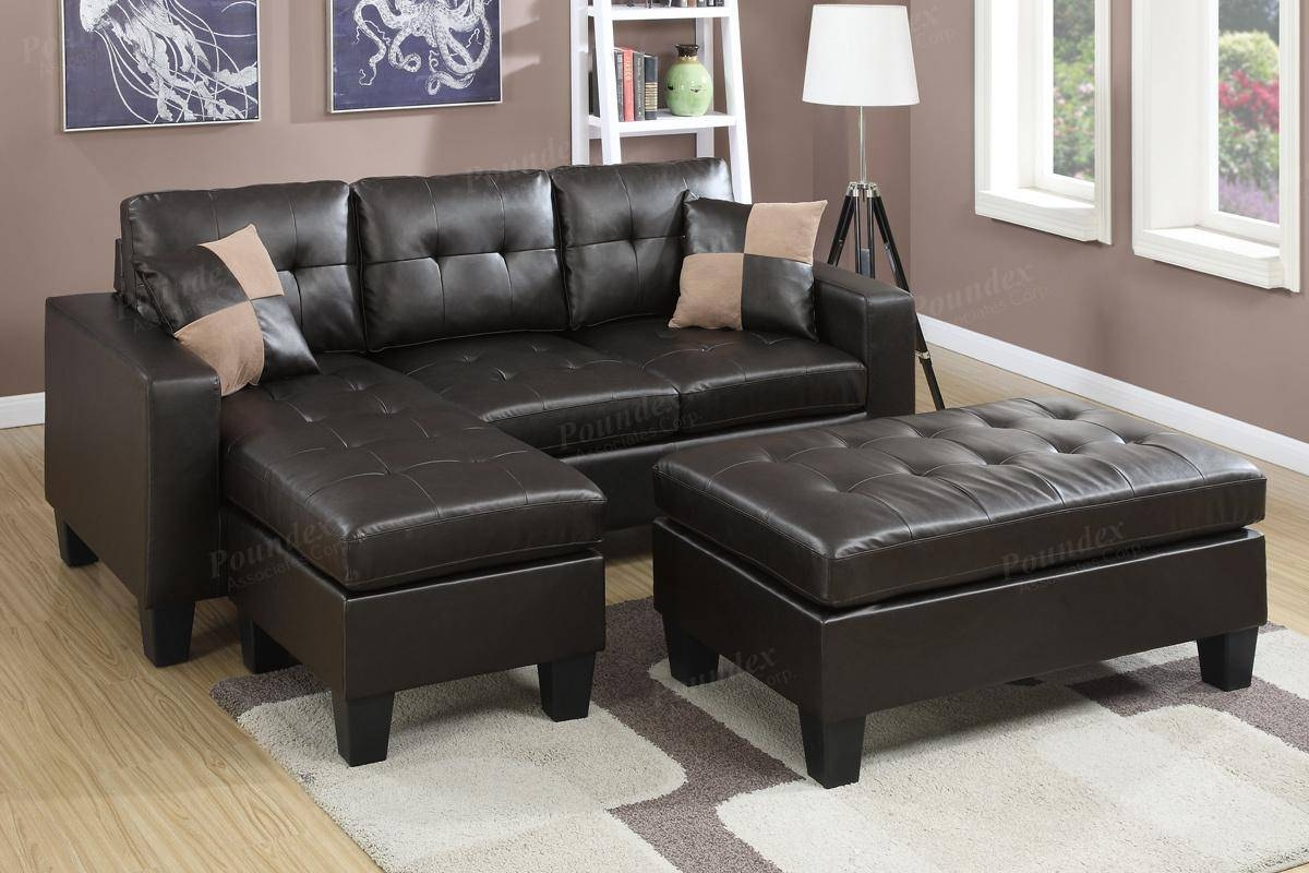Furniture: Best Design Of Brown Leather Sectional For Modern throughout Sofa With Chaise and Ottoman (Image 15 of 30)