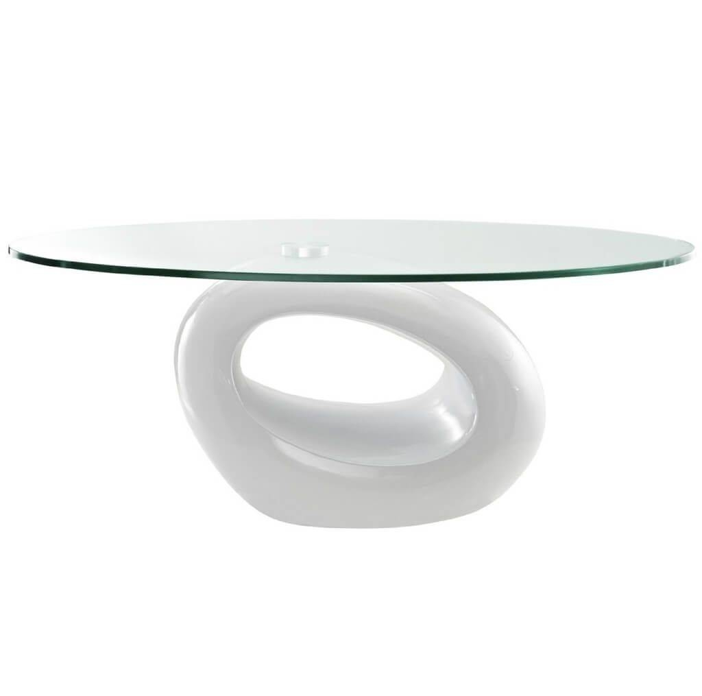 Furniture: Best Modern Coffee Table In White And Espresso Finish inside Oval White Coffee Tables (Image 16 of 30)