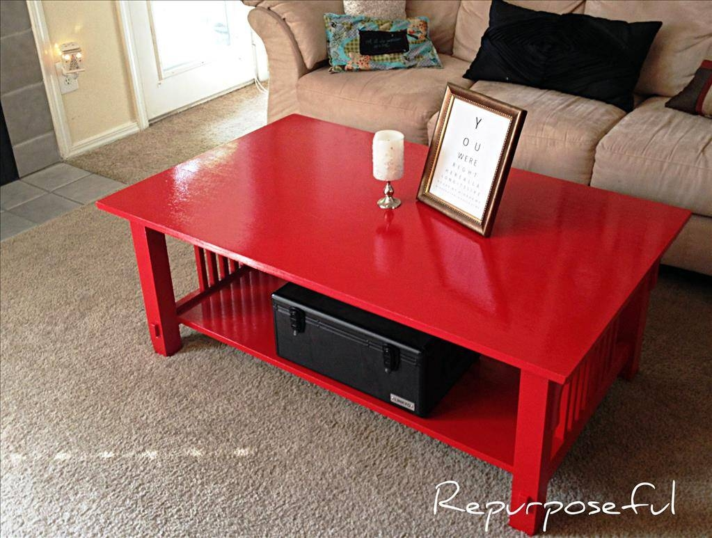 Furniture: Best Sofa Color For Your Red Coffee Table Round Red in Red Coffee Table (Image 13 of 30)