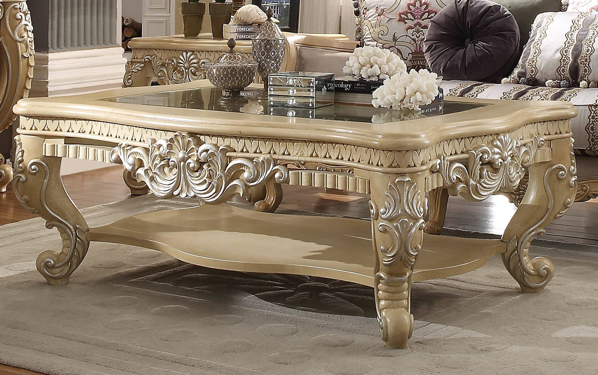 Furniture: Best Victorian Coffee Table Design Ideas Oak Victorian throughout Cream and Oak Coffee Tables (Image 21 of 30)