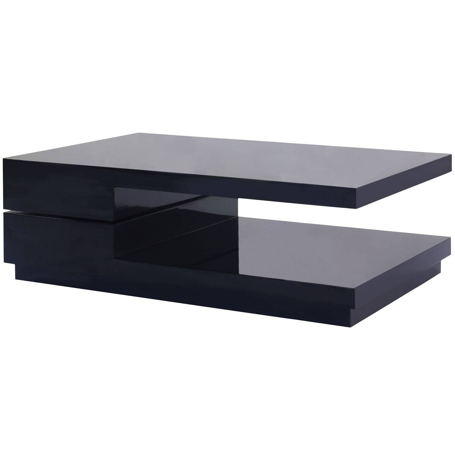 Furniture. Black Modern Coffee Table Design Ideas: Low Rectangular pertaining to Low Rectangular Coffee Tables (Image 14 of 30)