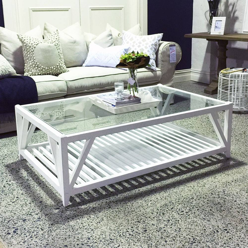 Furniture: Bring Cool Accent To Your Living Room With Simple Pertaining To Antique Glass Pottery Barn Coffee Tables (View 17 of 30)