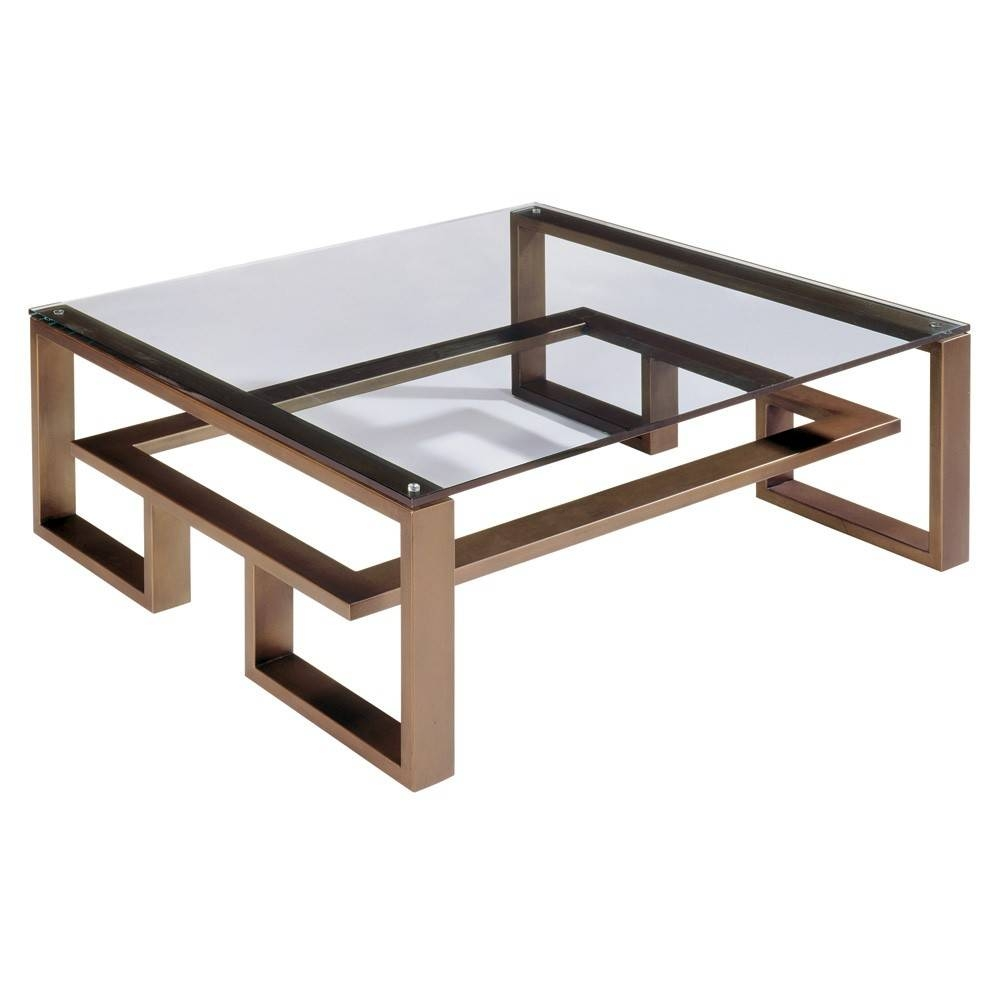 Furniture. Bronze Coffee Table Design Ideas: Golden Rectangle intended for Bronze Coffee Table Glass Top (Image 16 of 30)