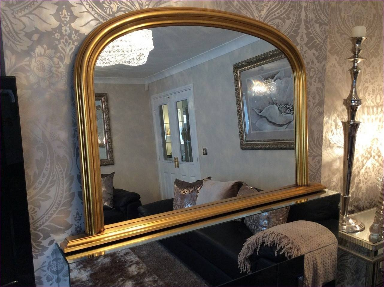 Furniture : Bronze Floor Mirror Window Shaped Wall Mirrors Huge within Huge Cheap Mirrors (Image 18 of 25)