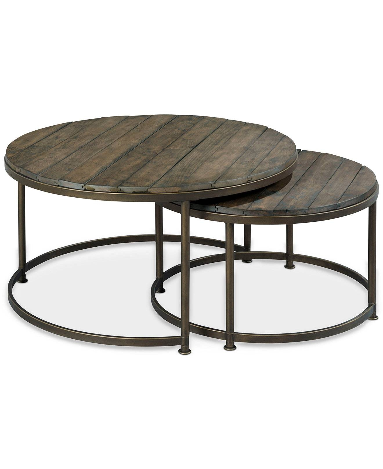 Furniture: Bronze Side Table | Round Nesting Tables | Triangle within Bronze and Glass Coffee Tables (Image 20 of 30)