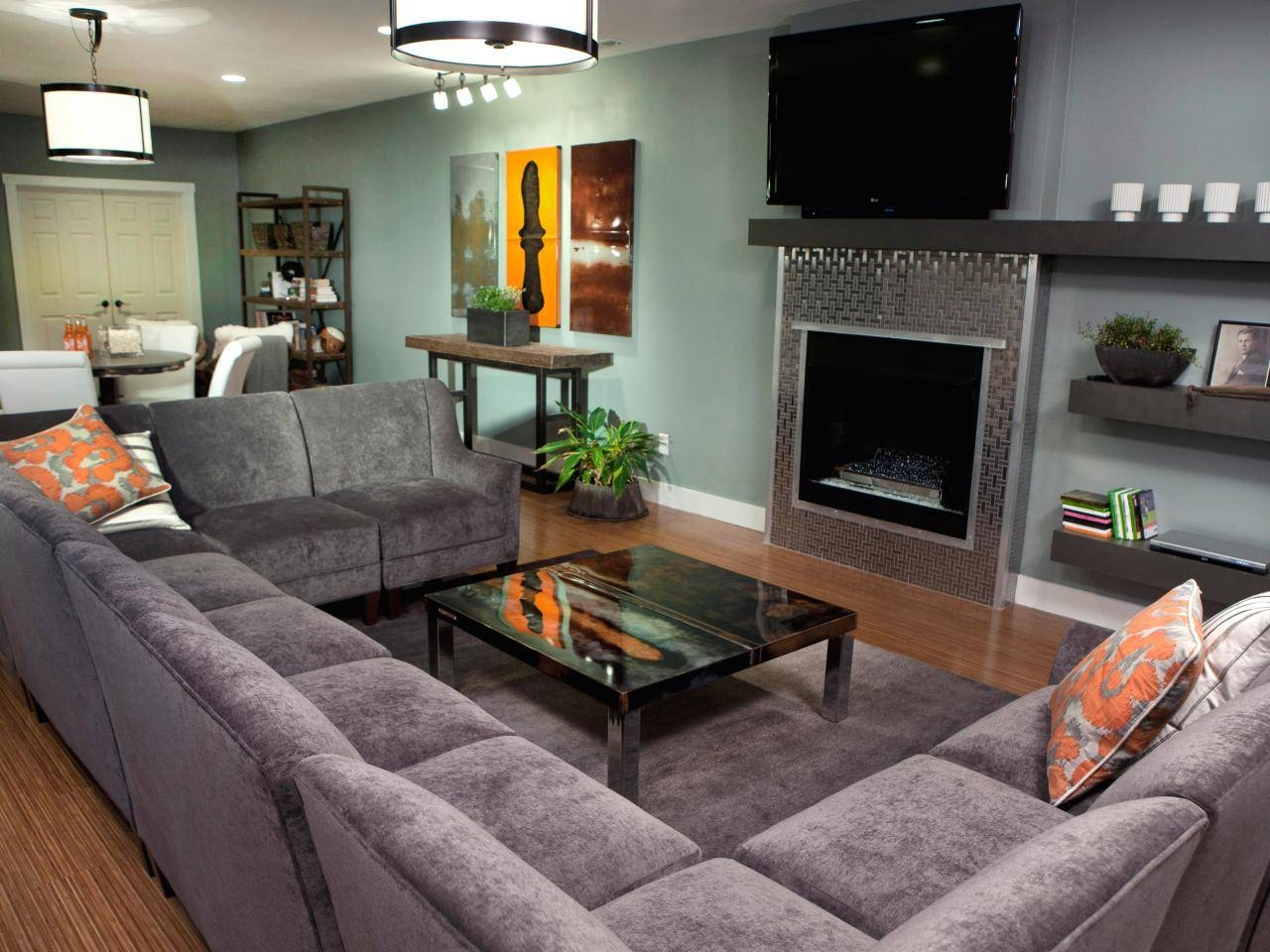 Furniture. Brown Leather Extra Large Sofas With Recliners Added inside Extra Large Sectional Sofas (Image 6 of 30)