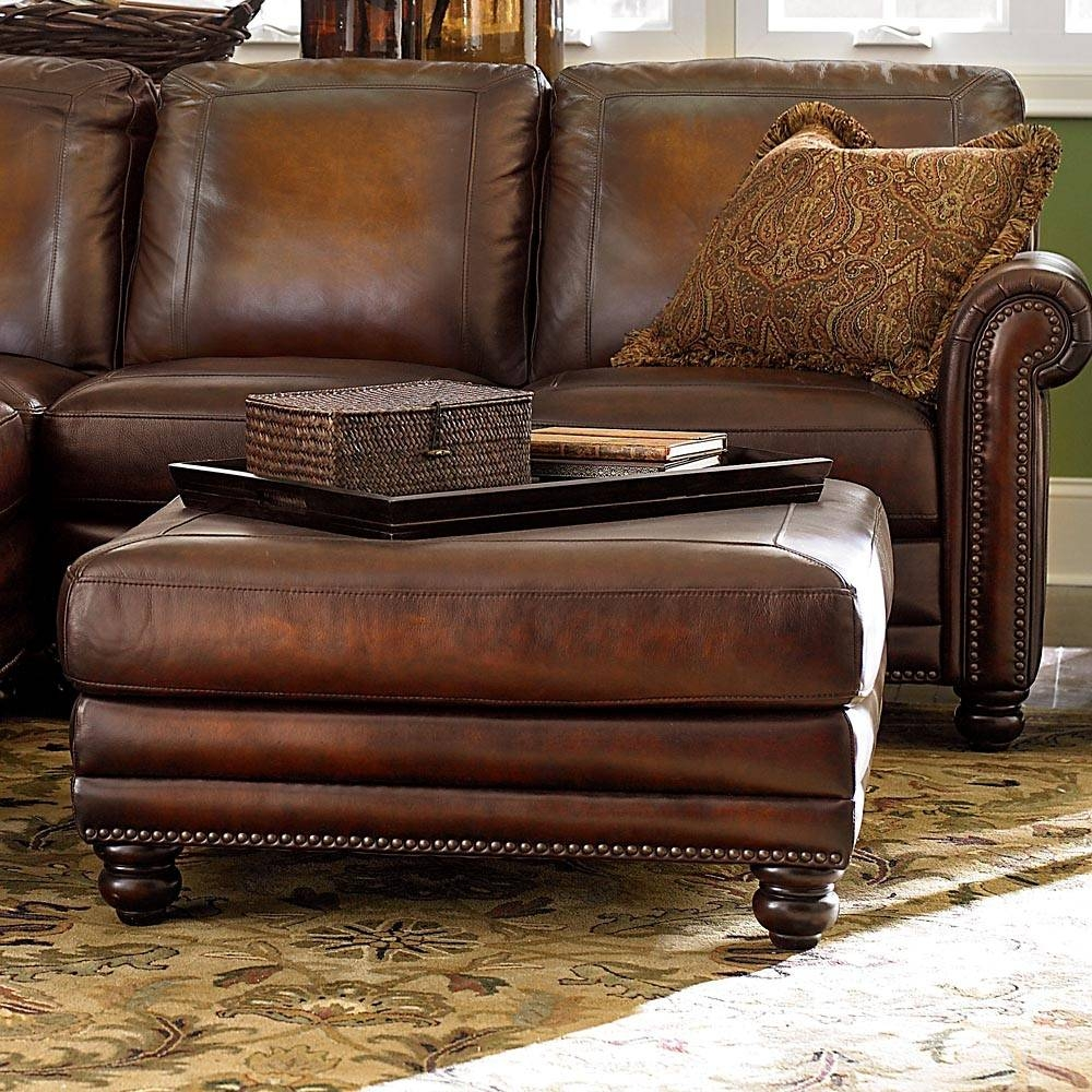 Furniture. Brown Leather Ottoman Coffee Table Design Ideas throughout Brown Leather Ottoman Coffee Tables (Image 20 of 30)