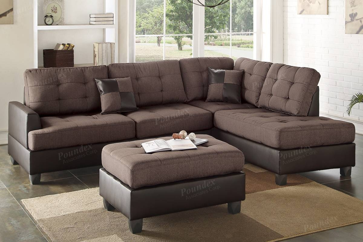 Furniture: Brown Leather Sectional | Brown Leather Sectional inside Sectional Sofa With Cuddler Chaise (Image 7 of 25)