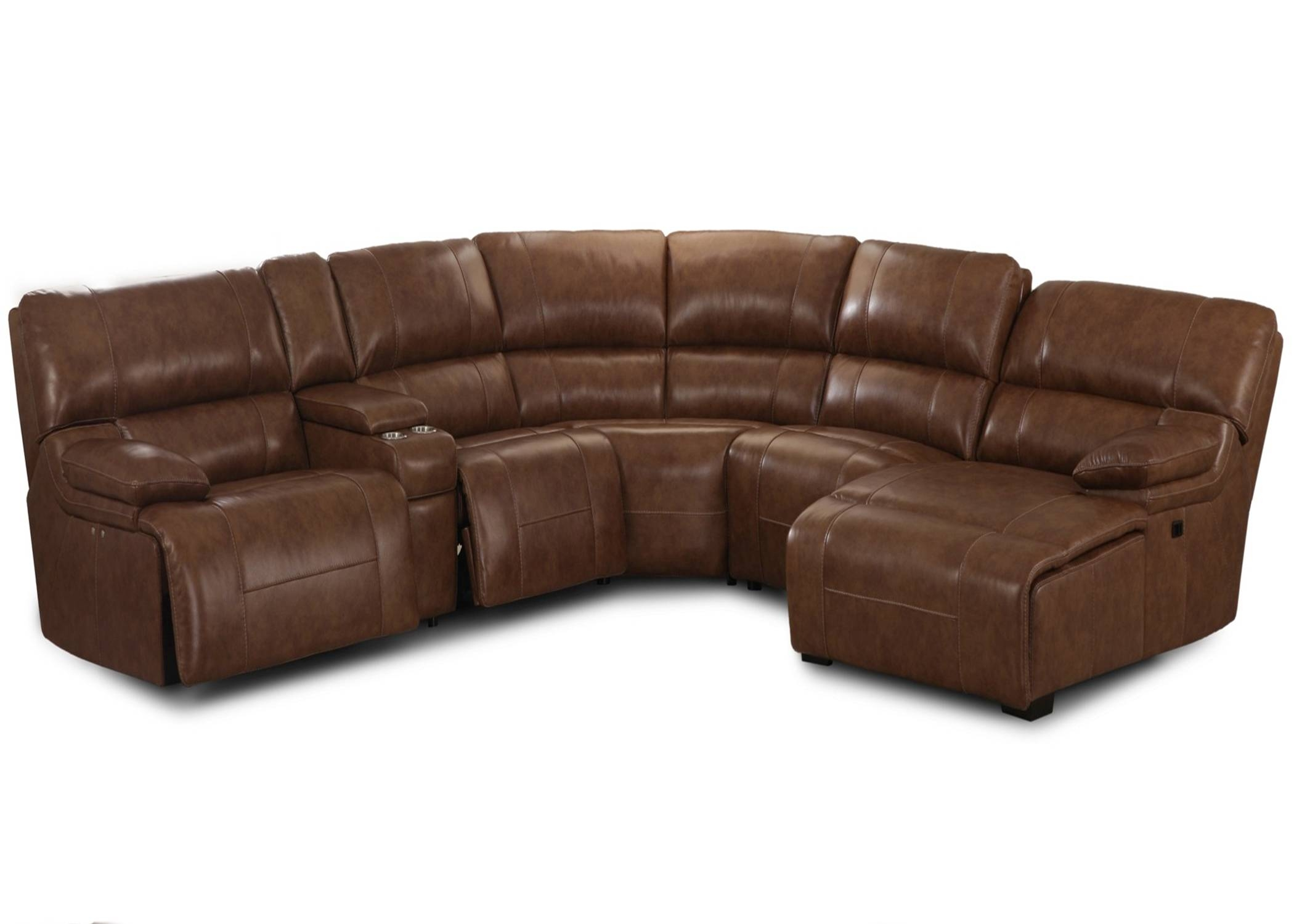 Furniture: Brown Sectional Recliner Sofasimon Li Leather Sofa throughout Cool Sofa Ideas (Image 11 of 30)
