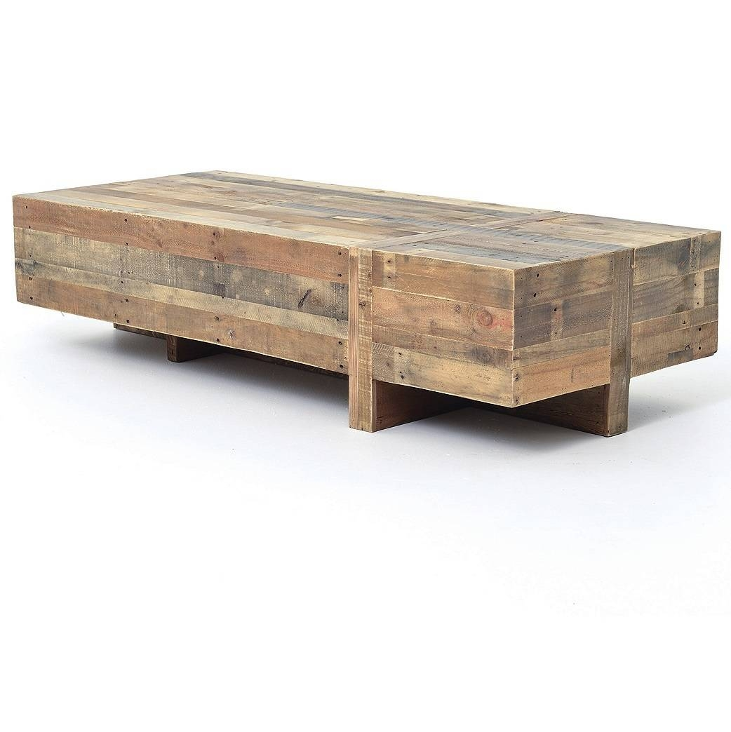 Furniture: Build Your Rustic Wooden Coffee Table Using Rustic pertaining to Low Coffee Tables With Drawers (Image 14 of 30)