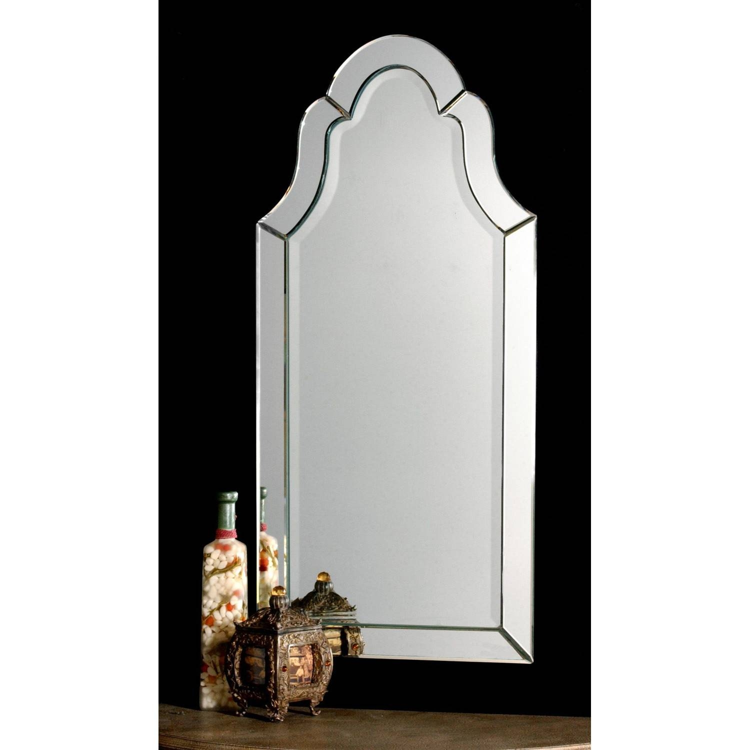 Furniture: Captivating Arched Mirror For Home Furniture Ideas with Distressed Silver Mirrors (Image 13 of 25)