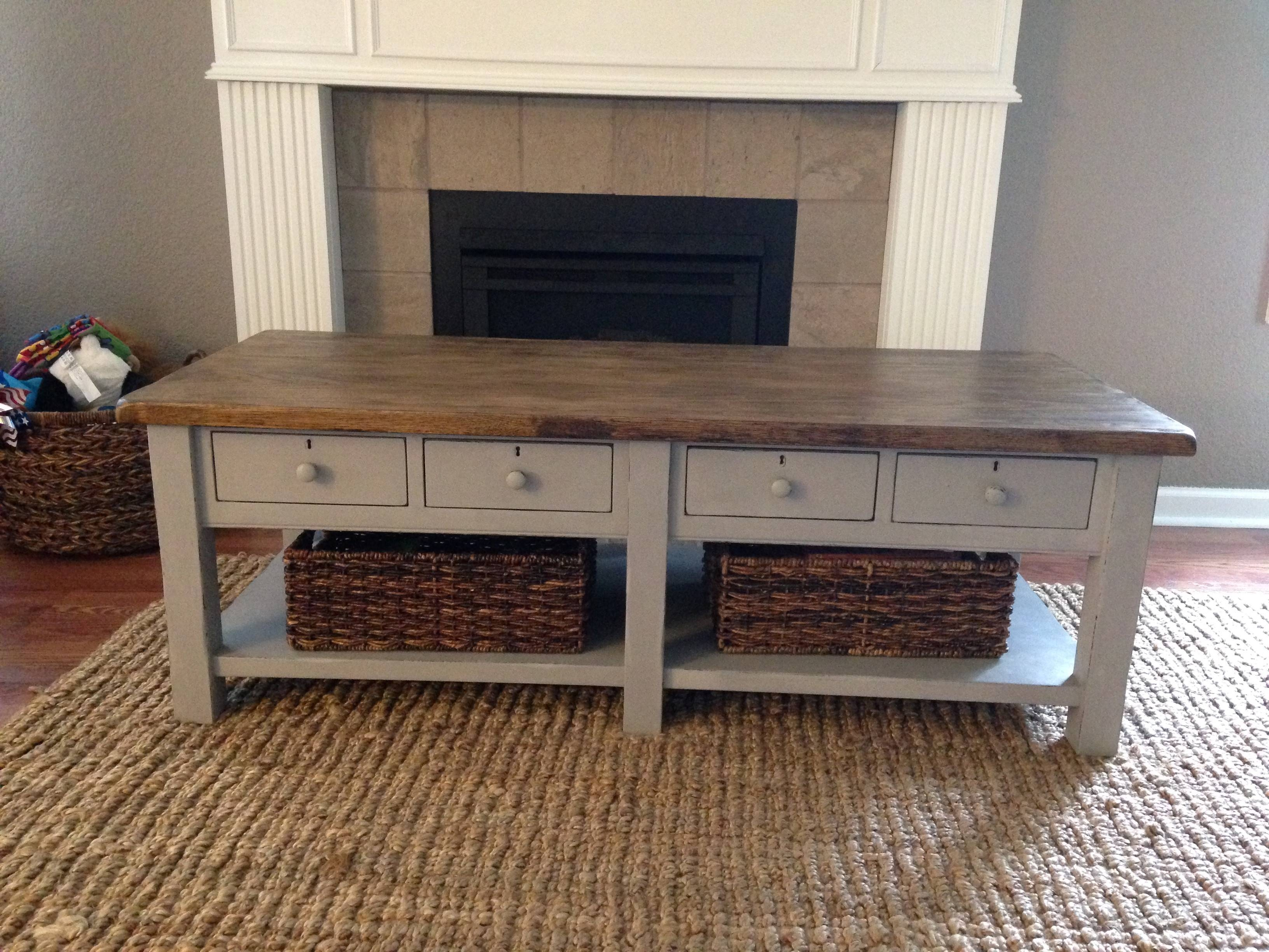 Furniture. Chalk Paint Coffee Table Design Ideas: Brown with White and Brown Coffee Tables (Image 11 of 30)