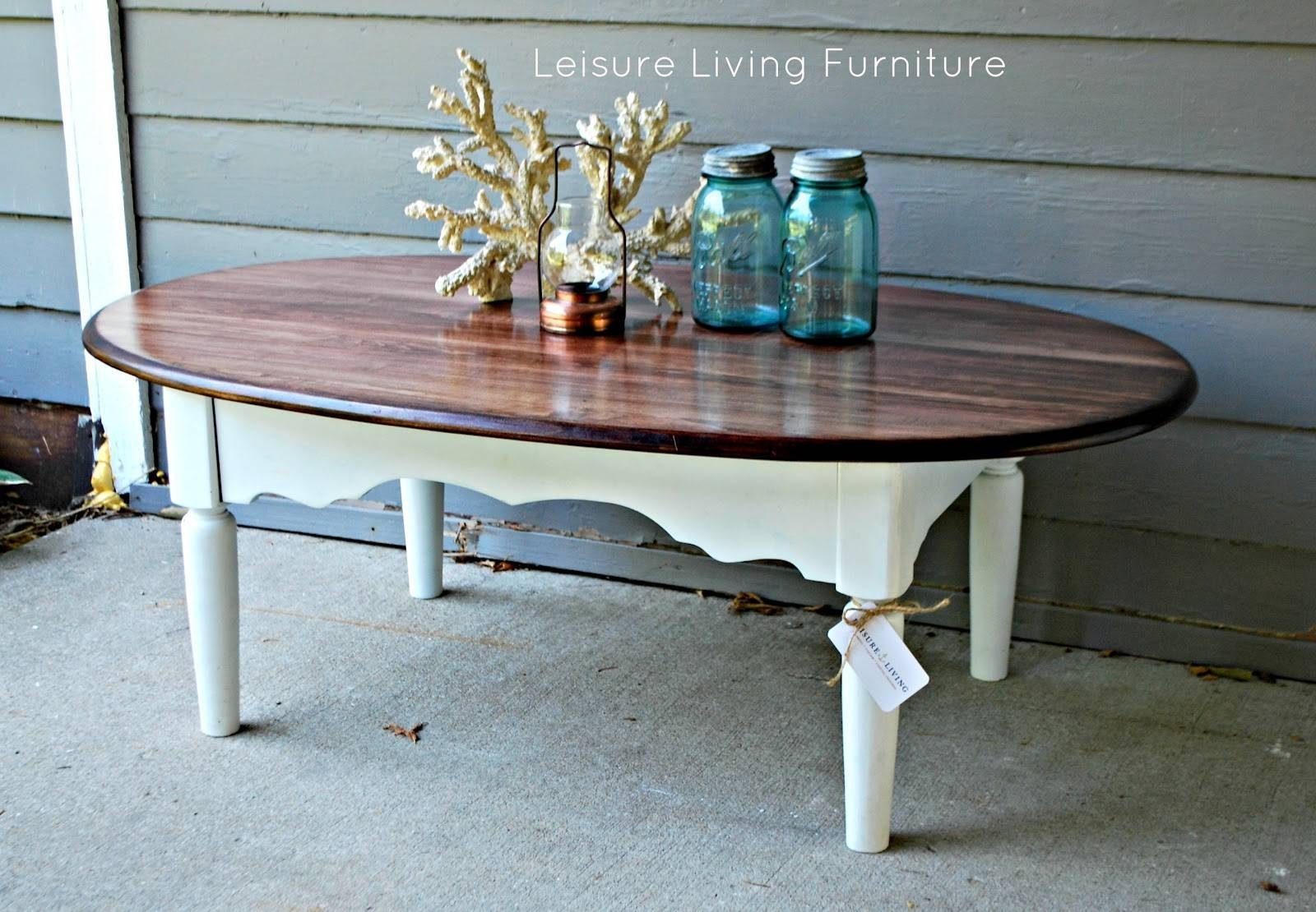 Furniture. Chalk Paint Coffee Table Design Ideas: White Oval throughout White Oval Coffee Tables (Image 15 of 30)