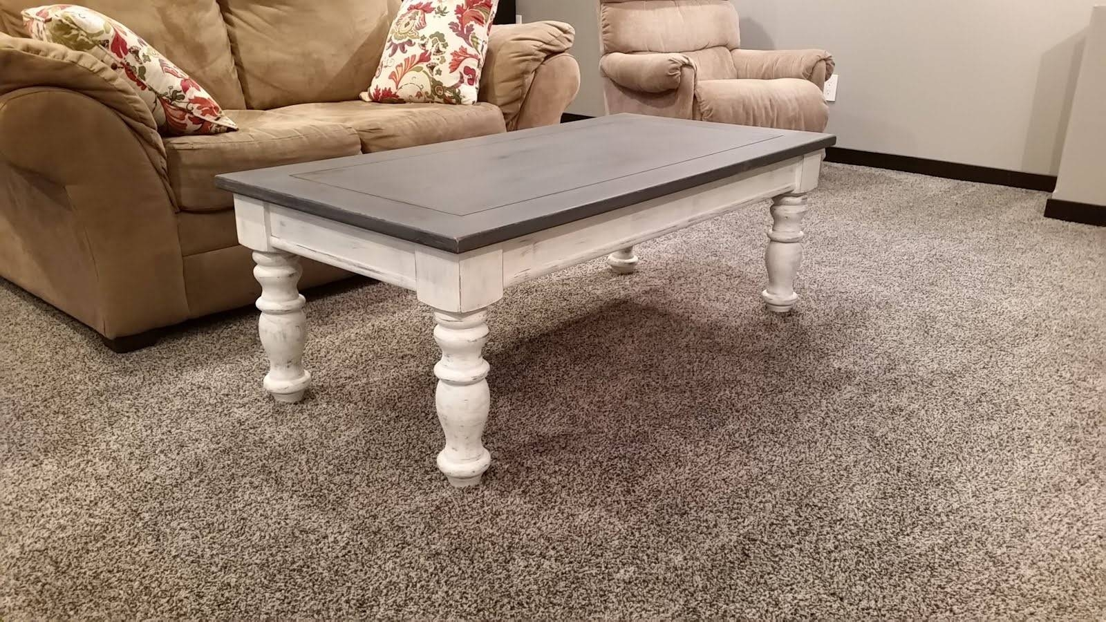 Furniture. Chalk Paint Coffee Table Design Ideas: White Round Mid regarding White Cottage Style Coffee Tables (Image 16 of 30)