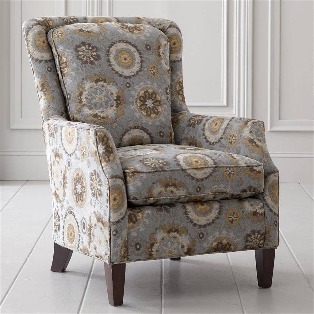 Furniture. Cheery And Comfortable Fabric Armchairs: Attractive intended for Fabric Armchairs (Image 16 of 30)