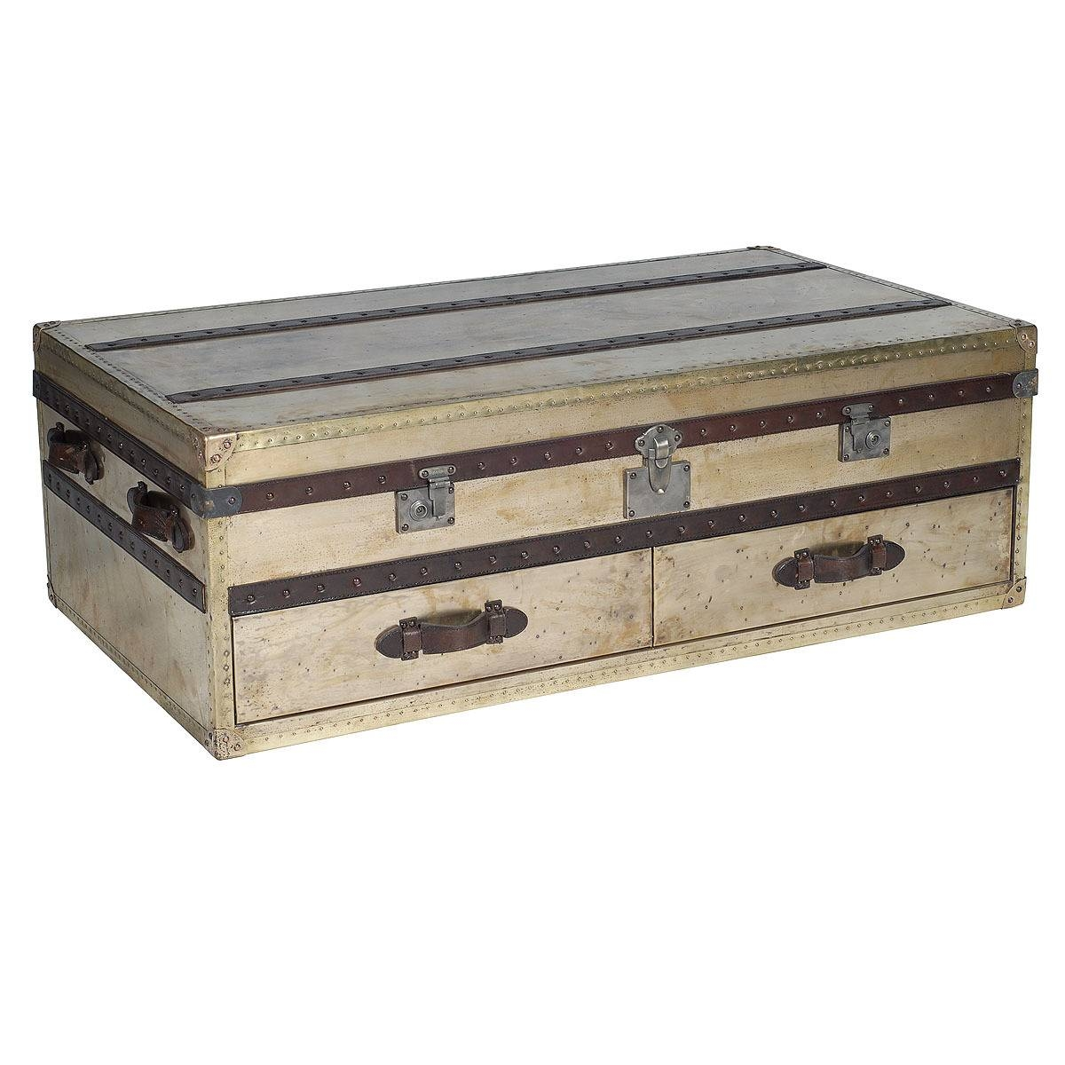 Furniture: Chest Coffee Table For Inspiring Antique Living intended for Steamer Trunk Stainless Steel Coffee Tables (Image 11 of 30)