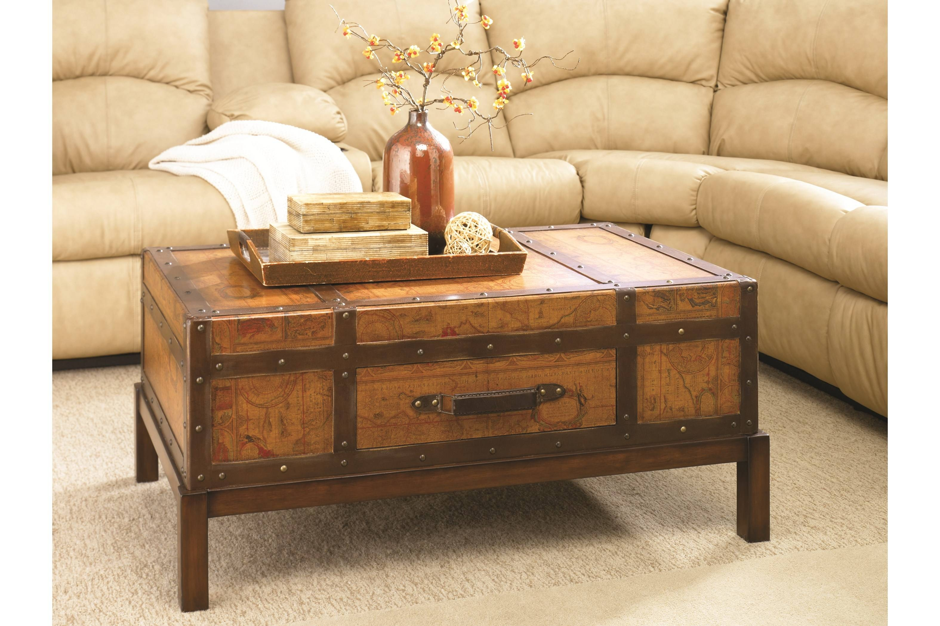 Furniture: Chest Coffee Table For Inspiring Antique Living intended for Trunk Chest Coffee Tables (Image 11 of 30)