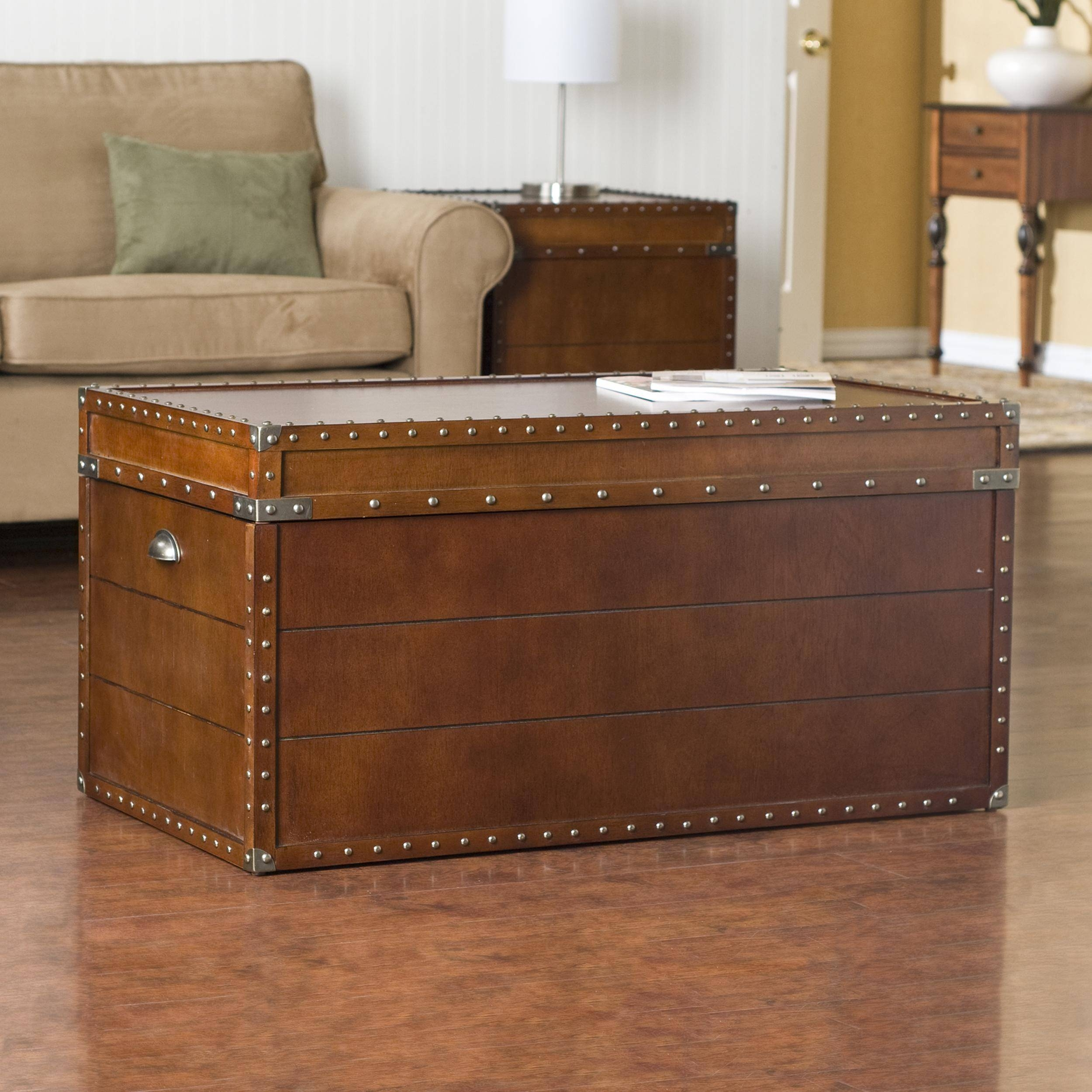 Furniture: Chest Coffee Table For Inspiring Antique Living with regard to Storage Trunk Coffee Tables (Image 14 of 30)
