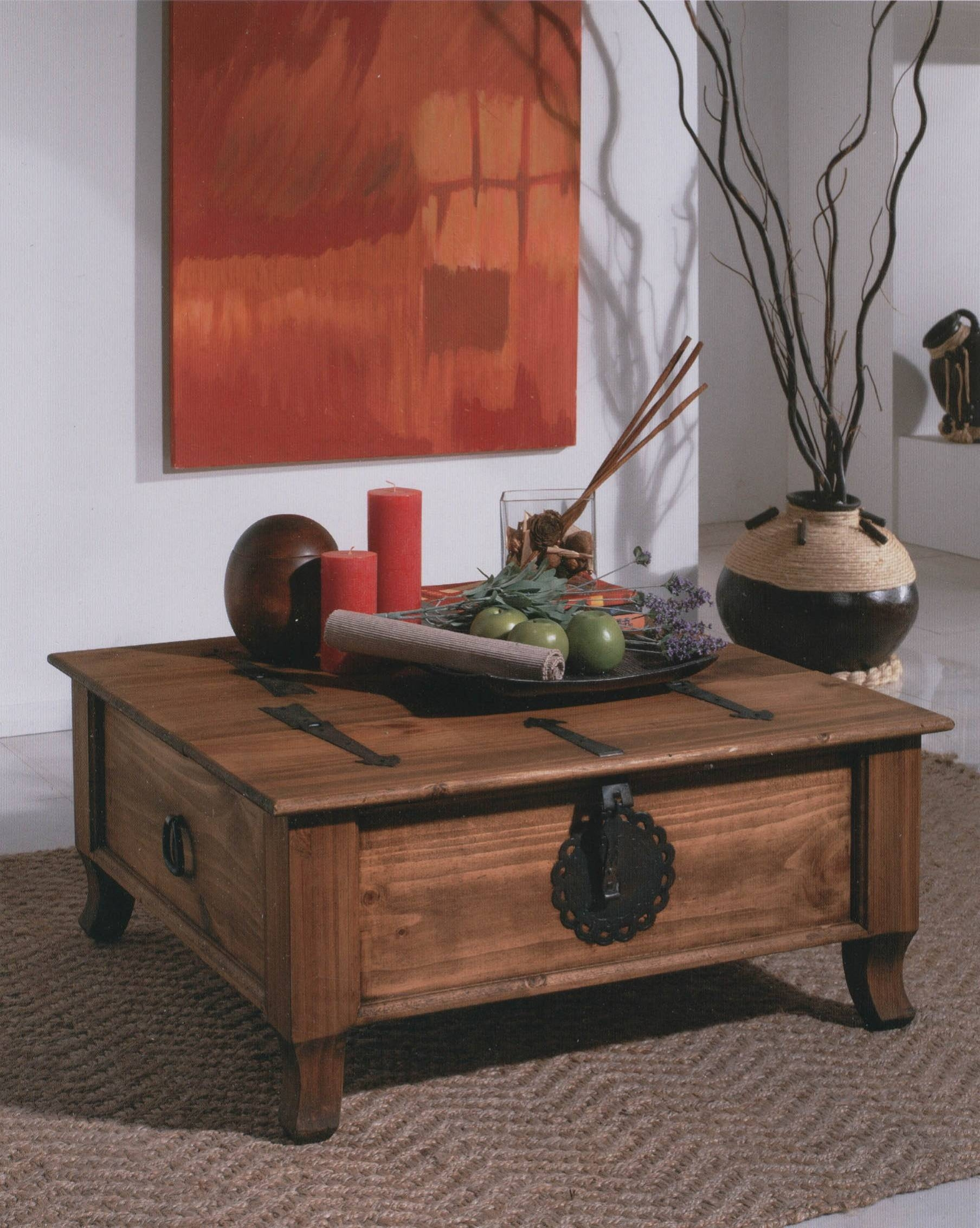 Furniture: Chest Coffee Table Square Trunk Coffee Table Grey within Wooden Trunks Coffee Tables (Image 10 of 30)