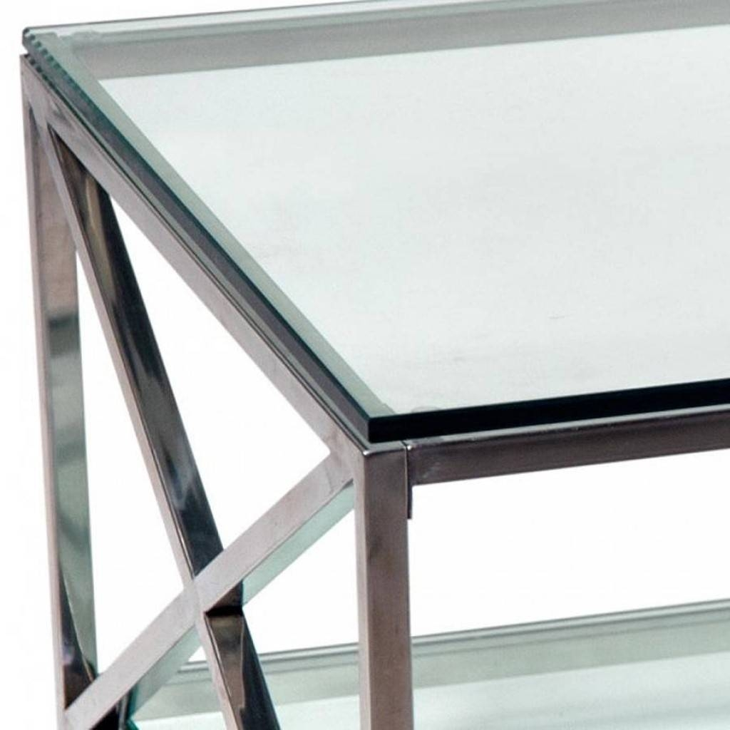 Furniture. Chrome And Glass Coffee Table Design Ideas: Clear regarding Glass Chrome Coffee Tables (Image 13 of 30)