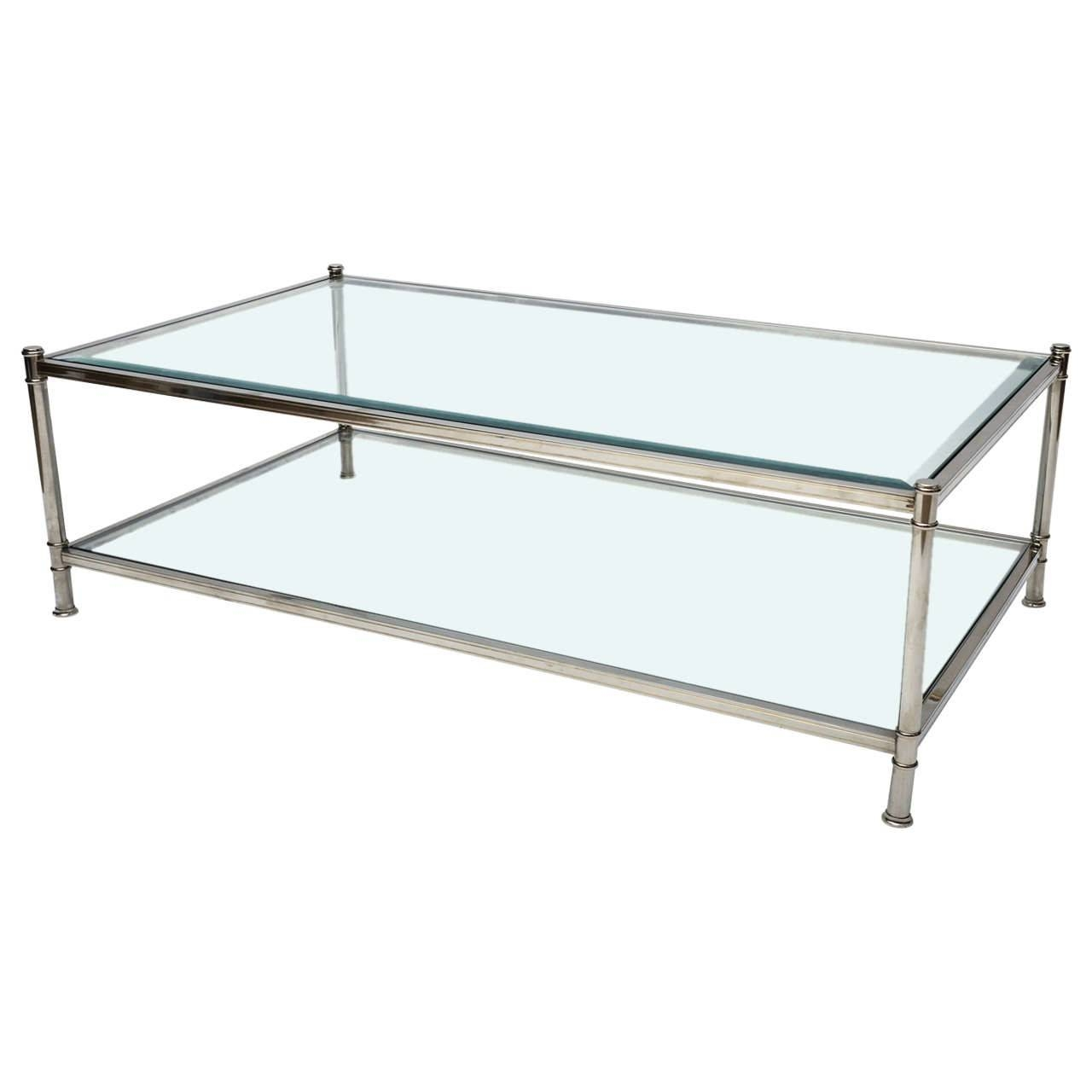 Furniture. Chrome And Glass Coffee Table Design Ideas: Clear with regard to Rectangle Glass Chrome Coffee Tables (Image 23 of 30)