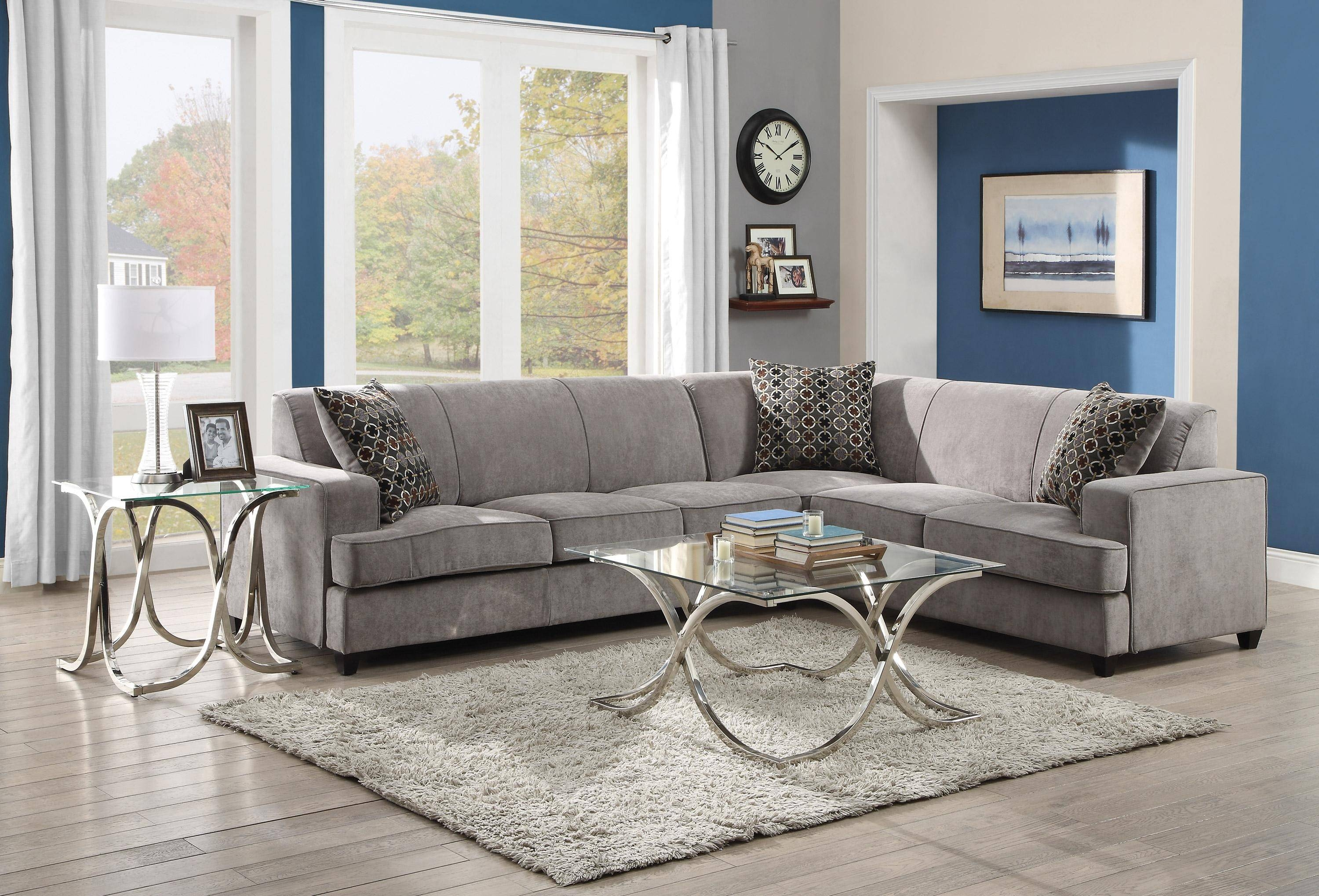 Furniture: Classic And Traditional Style Velvet Sectional Sofa For in Velvet Sofas Sectionals (Image 9 of 25)