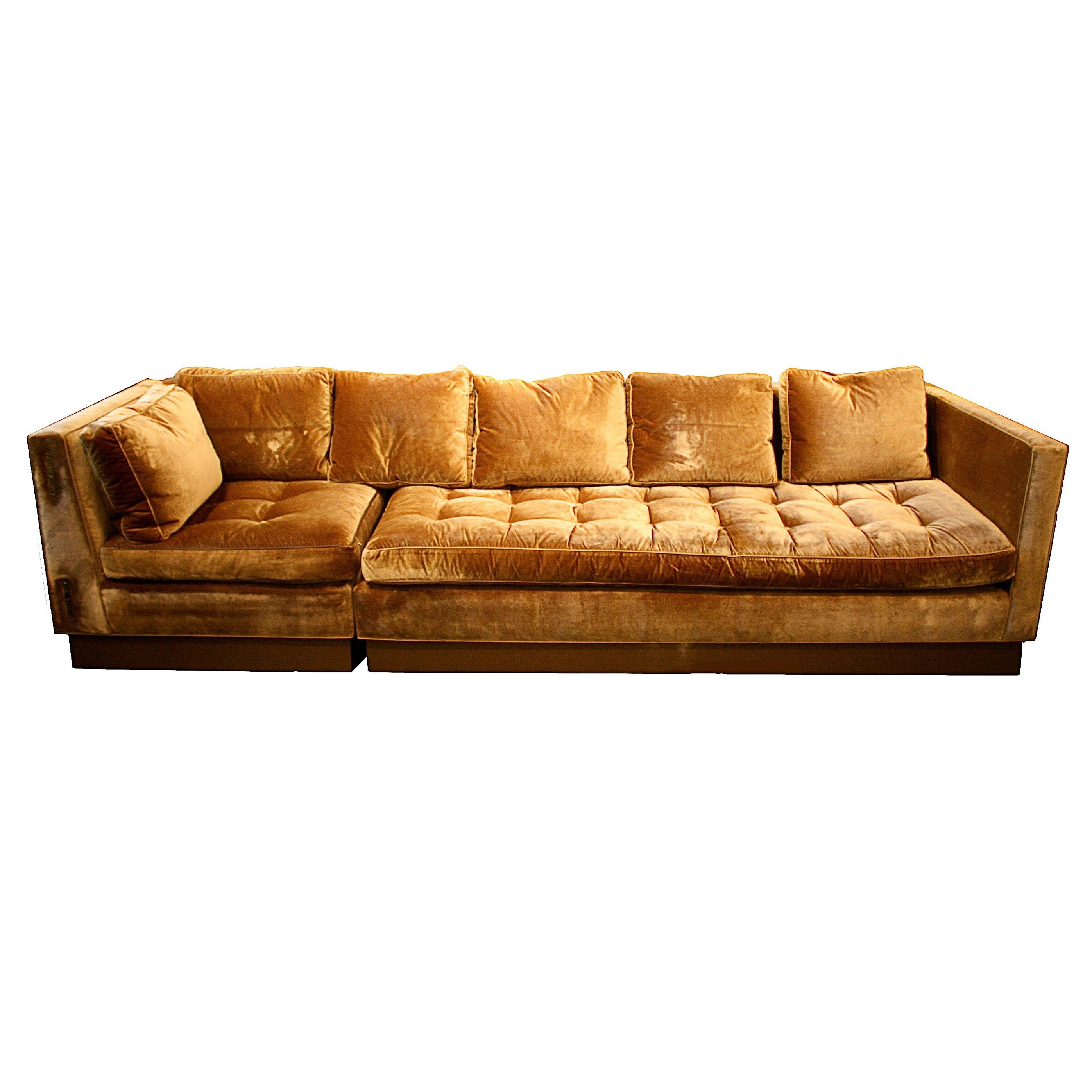 Furniture: Classic And Traditional Style Velvet Sectional Sofa For inside Gold Sectional Sofa (Image 9 of 25)