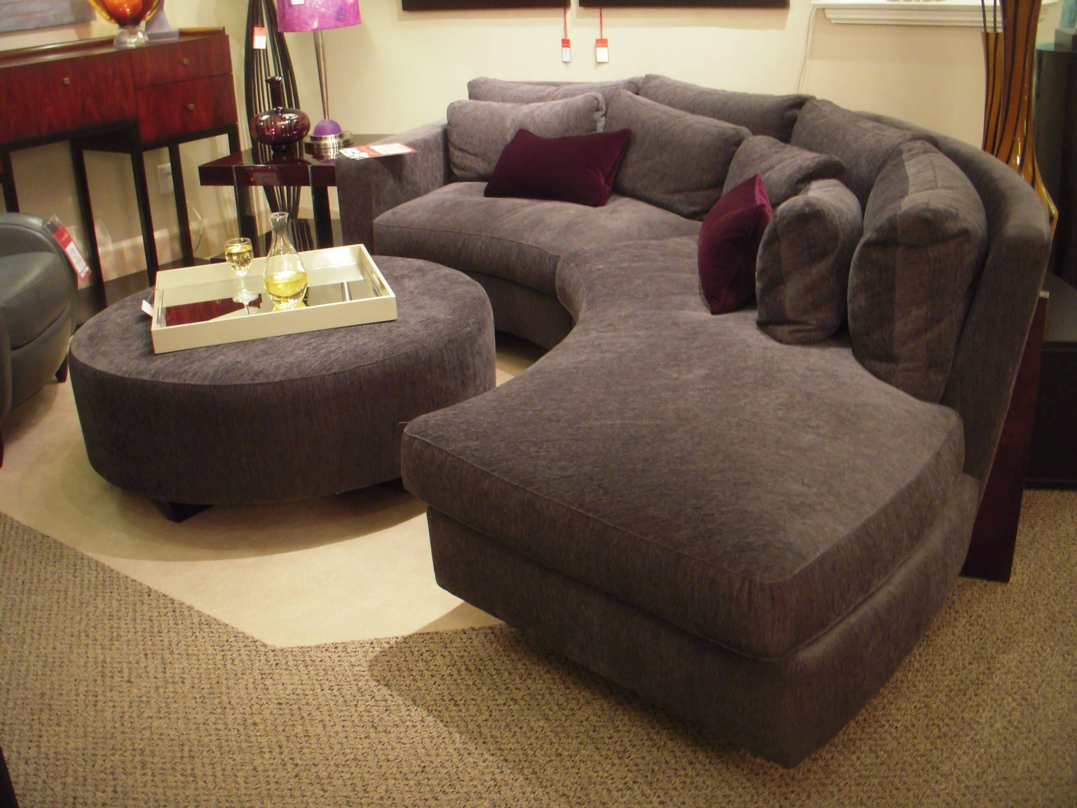 Furniture: Classic And Traditional Style Velvet Sectional Sofa For pertaining to Sectional Sofa With Oversized Ottoman (Image 5 of 30)