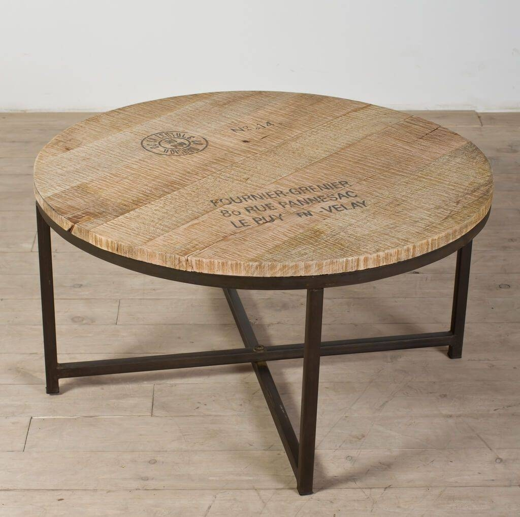 Furniture: Classic Small And Low Round Coffee Table With Glass Top intended for Small Wood Coffee Tables (Image 16 of 30)