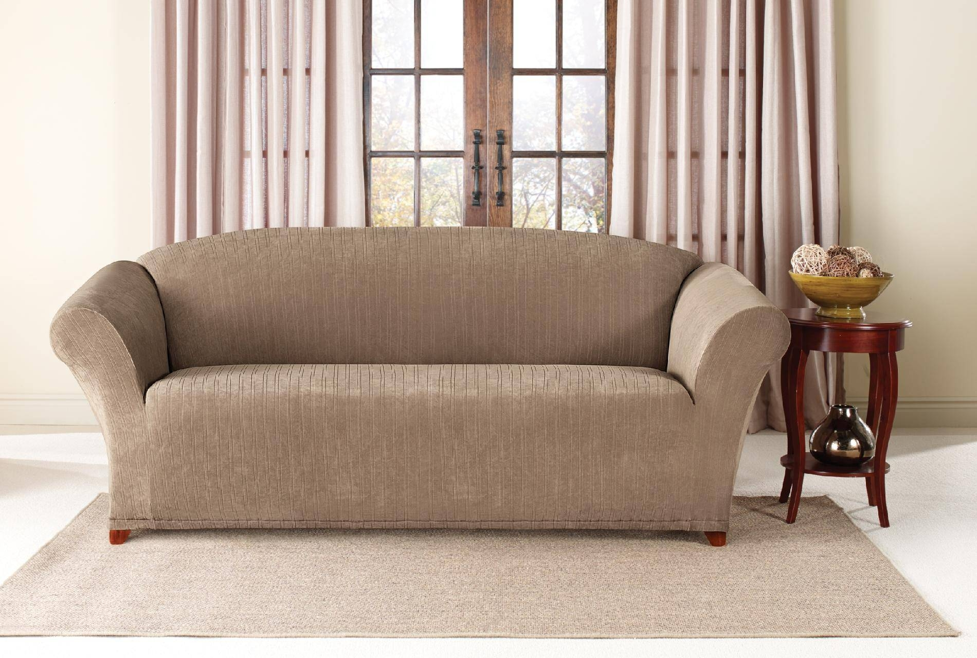 Furniture: Classy Design Of Sure Fit Sofa Slipcovers For Inspiring within 2 Piece Sofa Covers (Image 12 of 30)