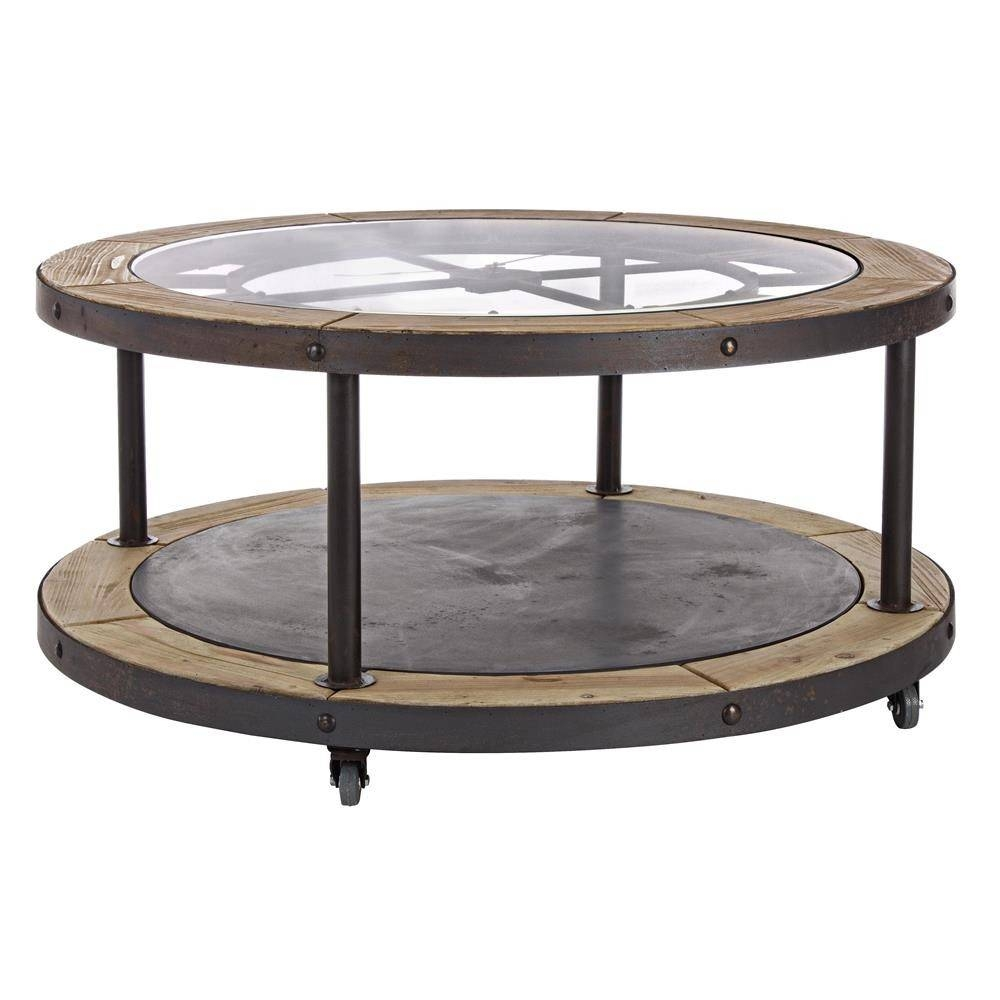 Furniture Clock Coffee Table Design Ideas: Black Round - Jericho regarding Clock Coffee Tables Round Shaped (Image 16 of 30)