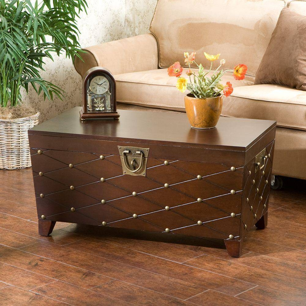 Furniture: Coffee Table Trunk | Square Trunk Coffee Table | Trunk inside Square Chest Coffee Tables (Image 14 of 30)