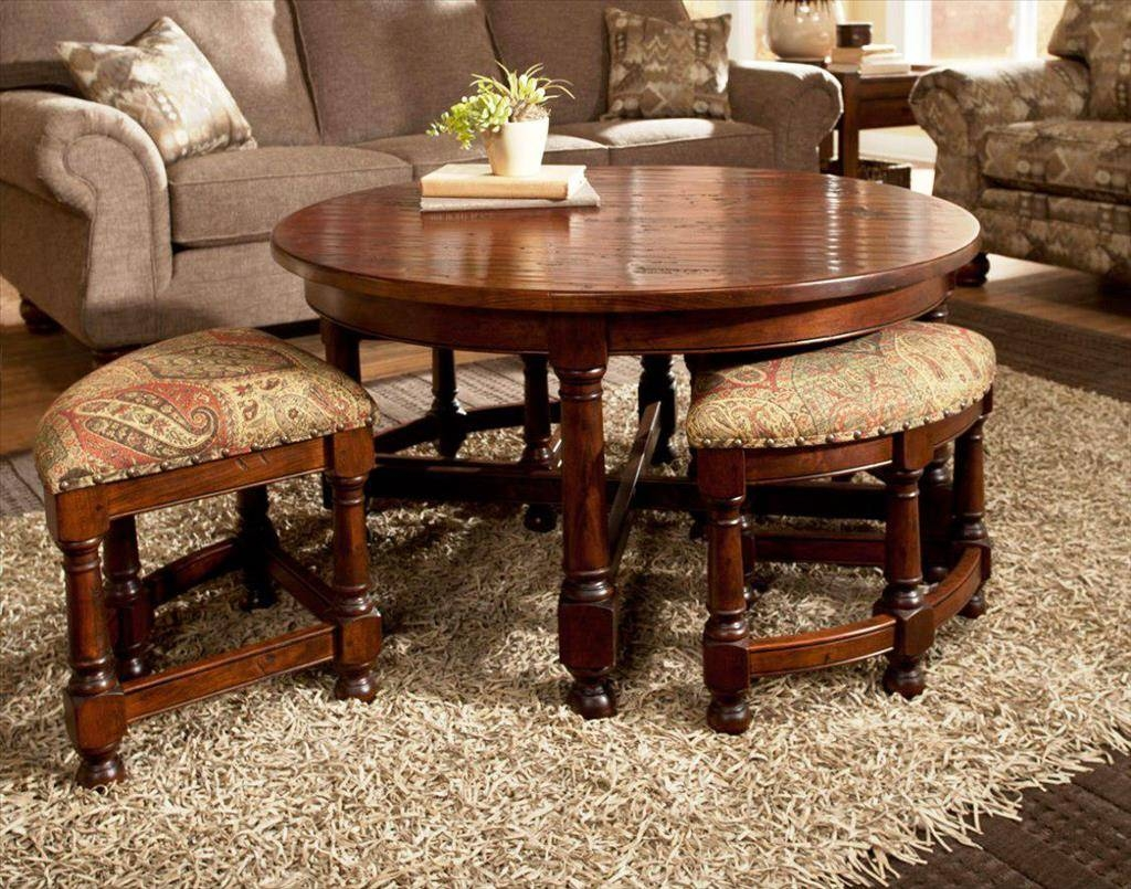 Furniture: Coffee Table With Ottomans | Coffee Table With Stools With Coffee Table With Stools (View 15 of 30)