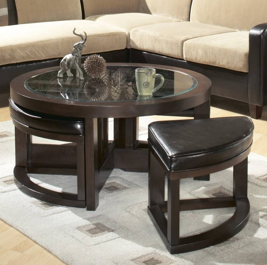 Furniture: Coffee Table With Stools Underneath Ideas Coffee Table Inside Coffee Table With Stools (View 16 of 30)