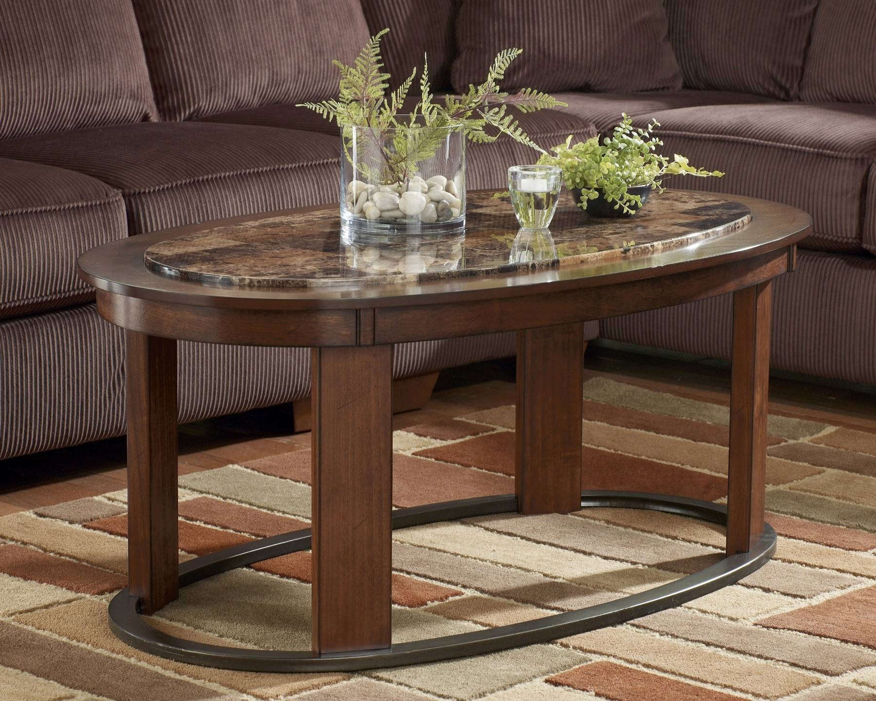 Furniture Coffee Tables with regard to Oval Glass and Wood Coffee Tables (Image 10 of 30)