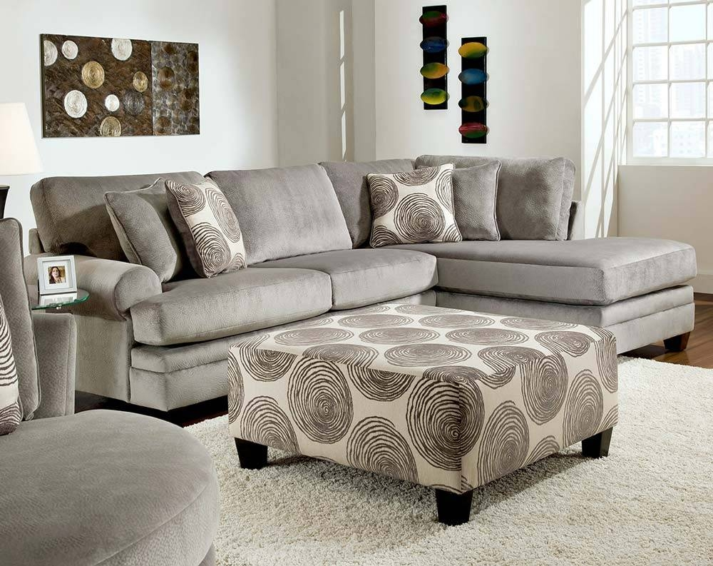 Furniture: Comfortable Gray Microfiber Couch For Elegant Living within Modern Microfiber Sectional Sofa (Image 16 of 30)