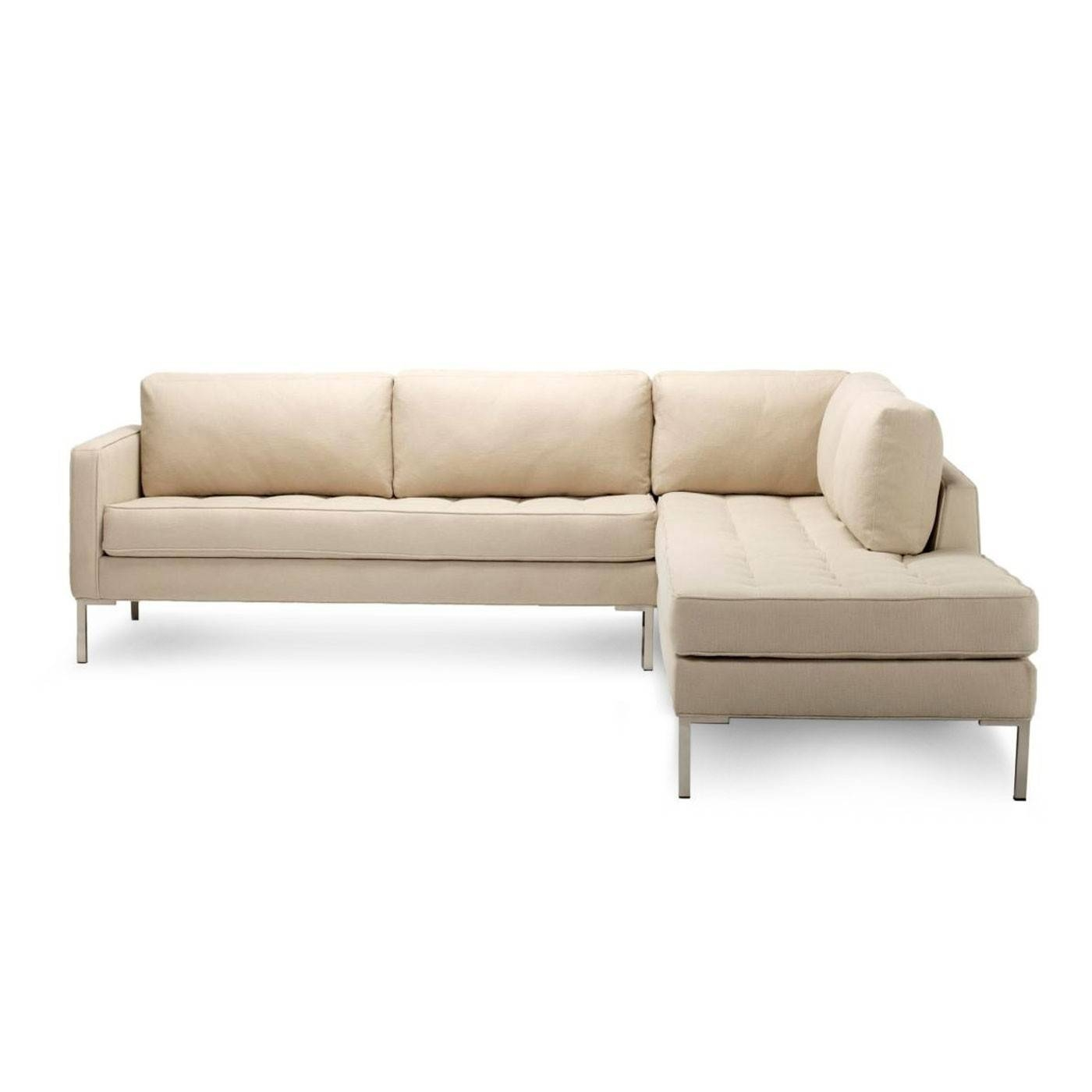 Furniture: Comfortable Modern Sofa Design With Cozy Armless Settee Intended For Armless Sectional Sofas (Photo 11 of 30)