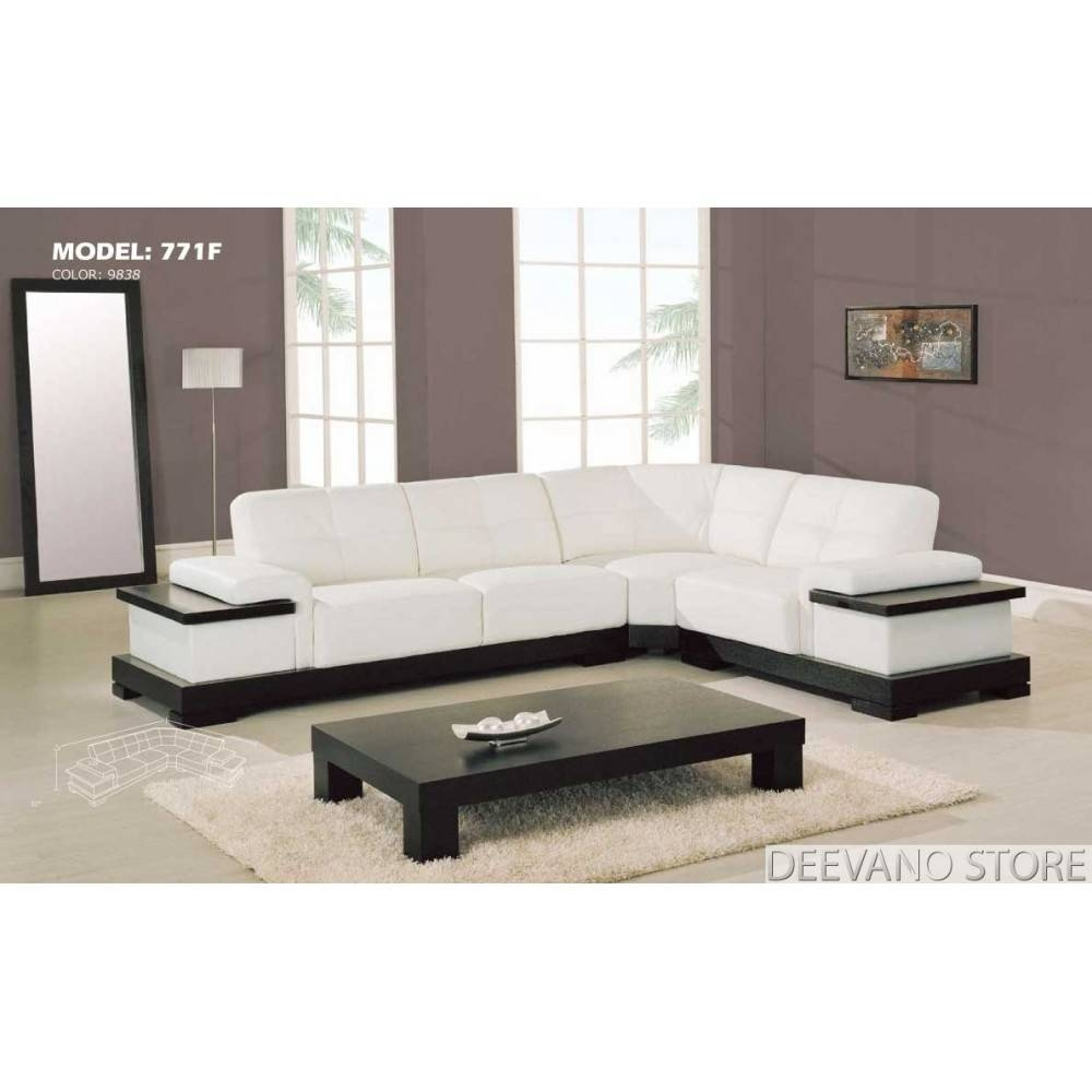 Furniture: Comfortable White Ethan Allen Sectional Sofas With Dark within White Modern Sofas (Image 9 of 30)