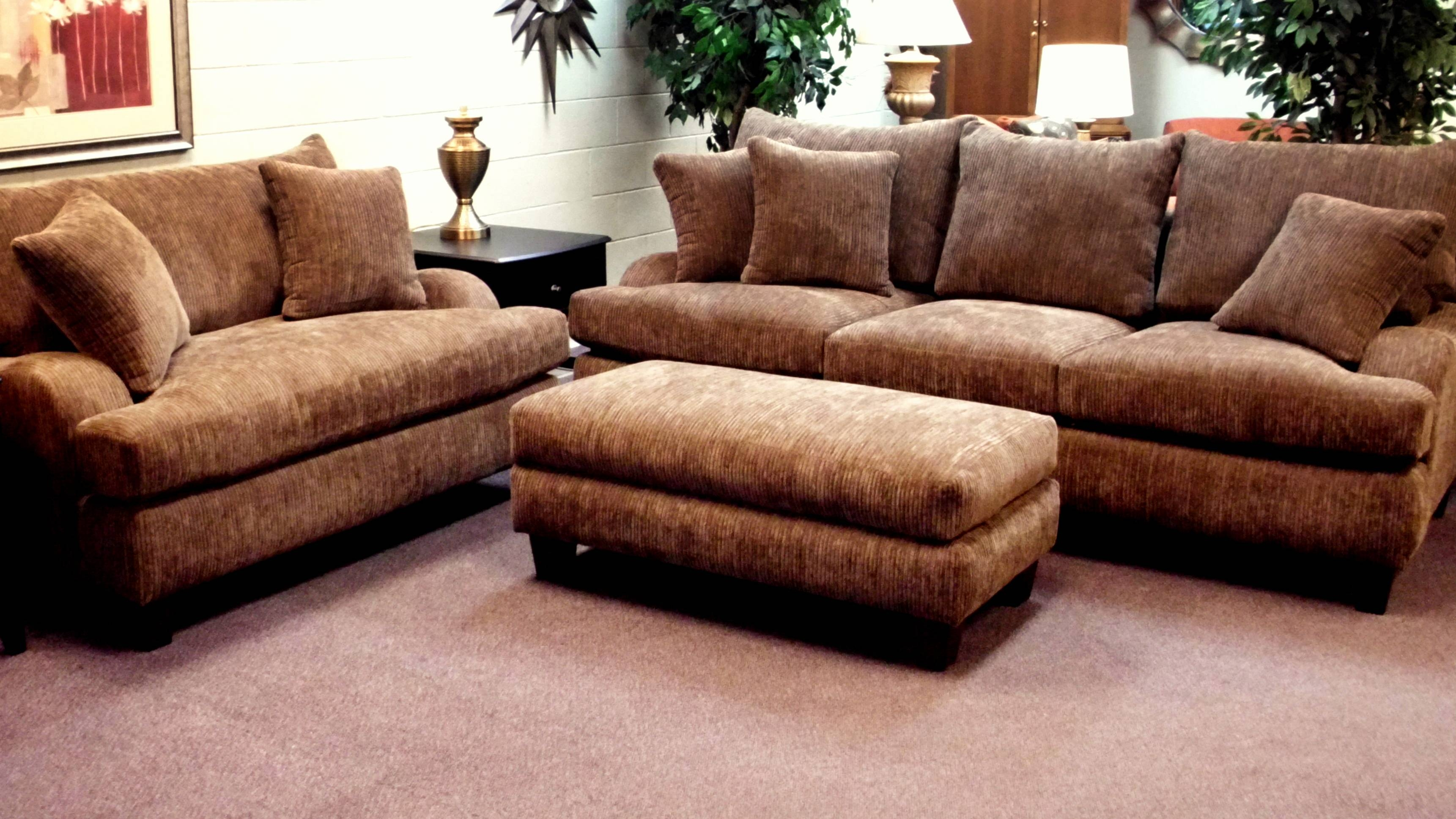 Furniture: Comfy Design Of Oversized Couch For Charming Living regarding Deep Cushion Sofa (Image 10 of 16)